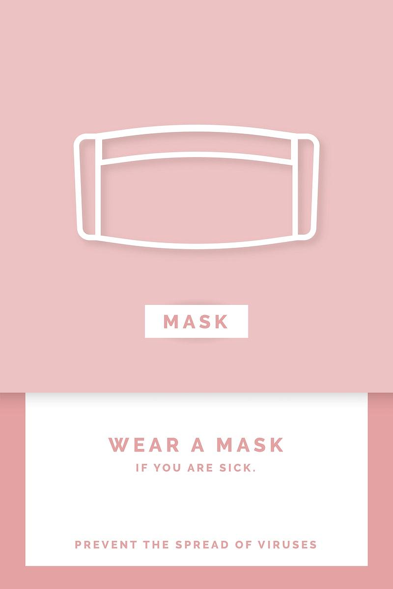 Wear a mask coronavirus awareness message vector