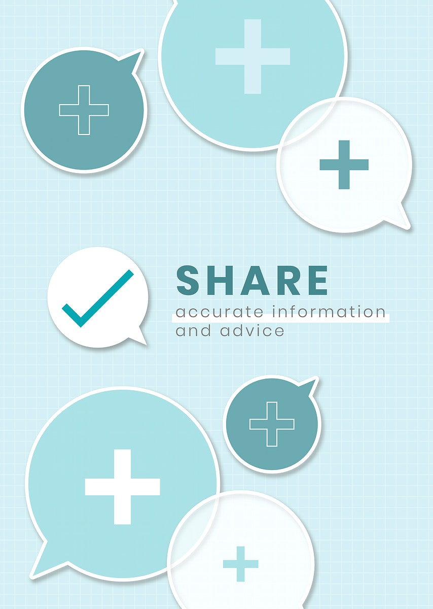 Share accurate information ad advice vector