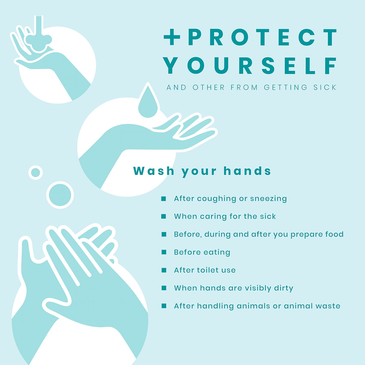 Protect yourself and others coronavirus awareness message vector