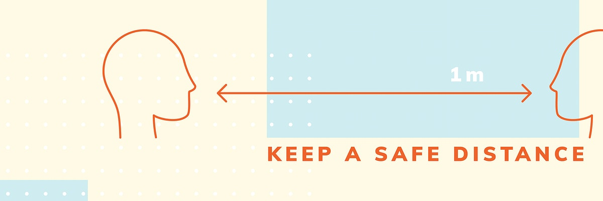 Keep a safe distance to prevent coronavirus social distancing awareness template vector