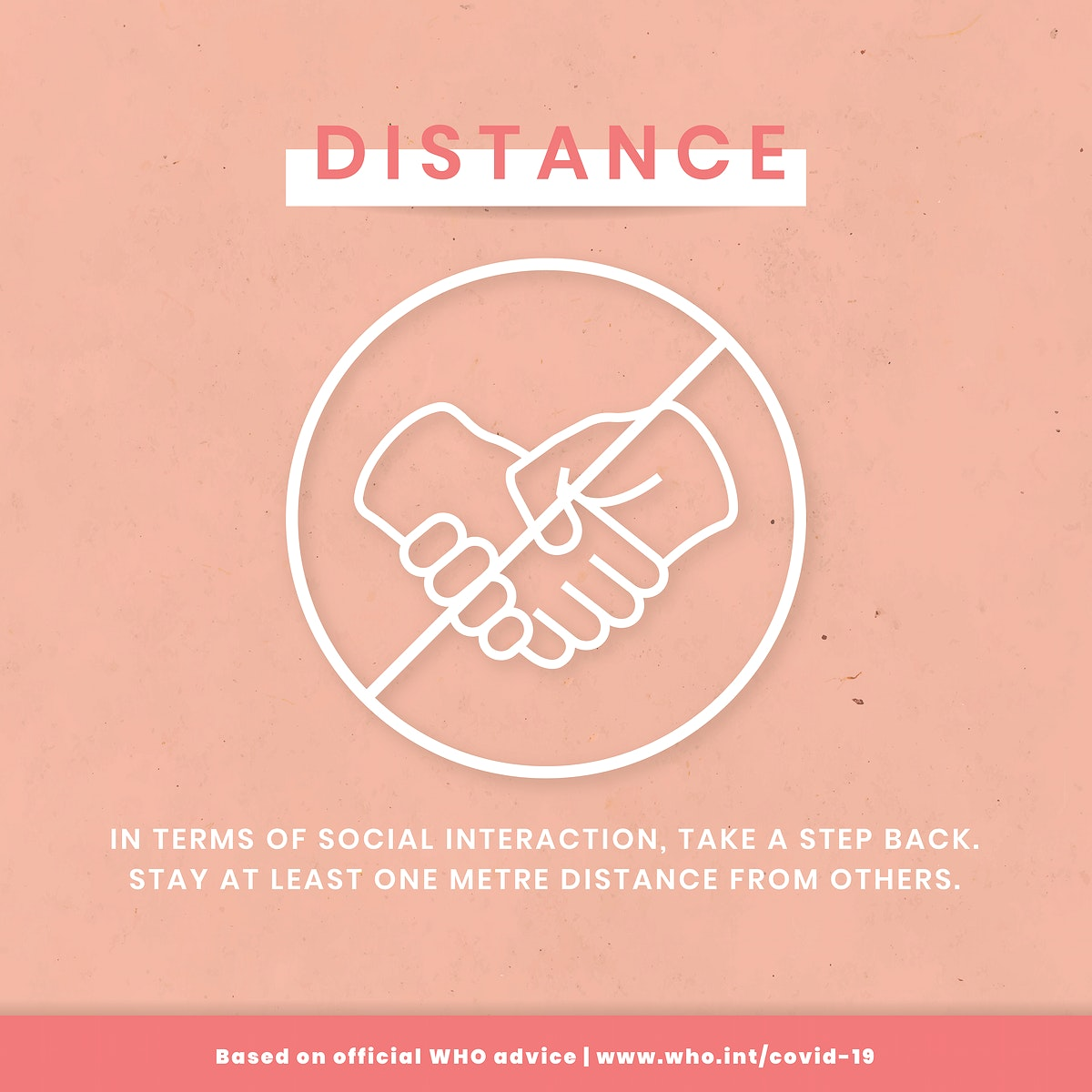 Keep your distance to prevent coronavirus template vector