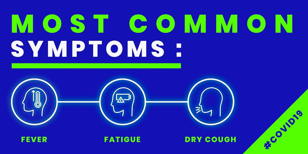 Covid-19 common symtpoms template vector