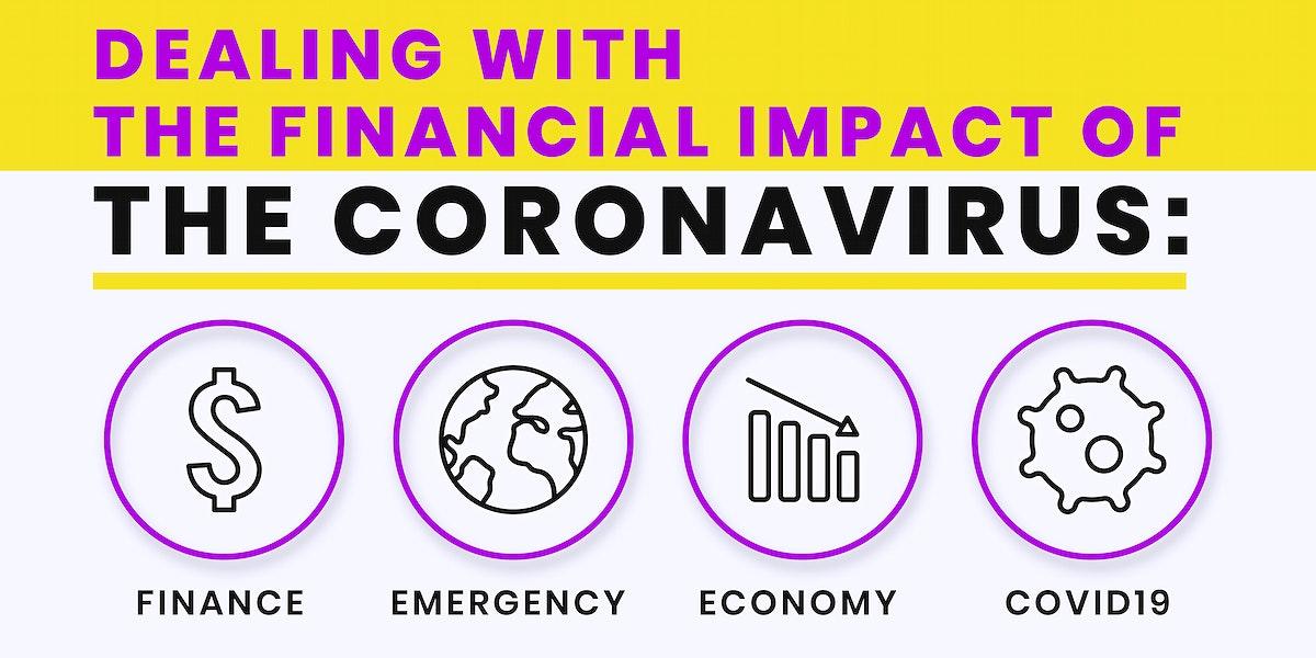 Financial impact of coronavirus template vector