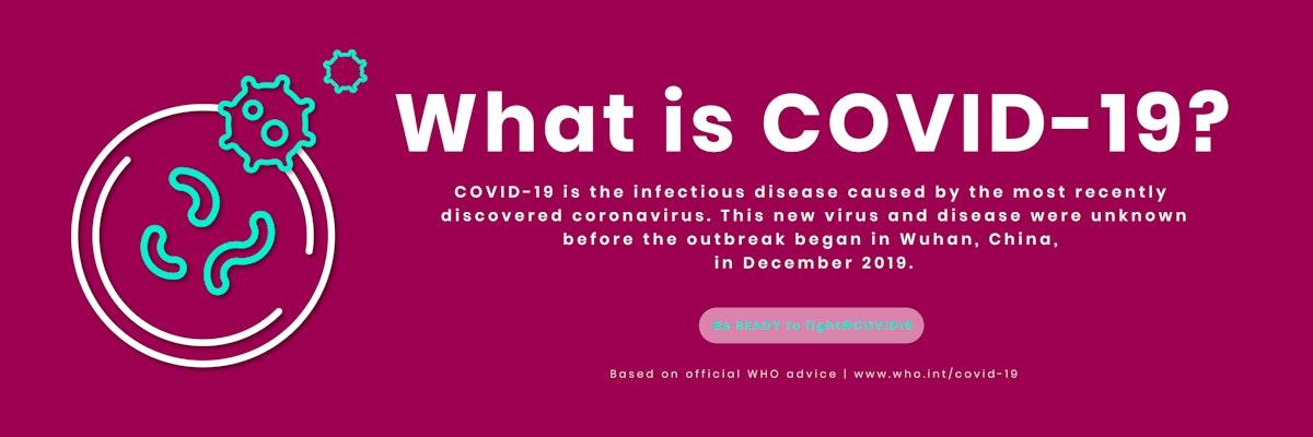 What is covid-19 coronavirus awareness template vector