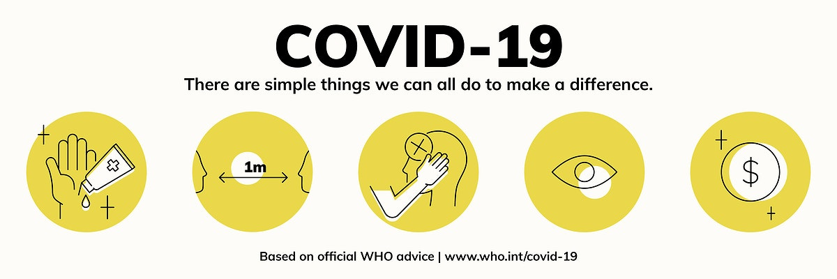 Covid-19 simple ways to make a difference template vector