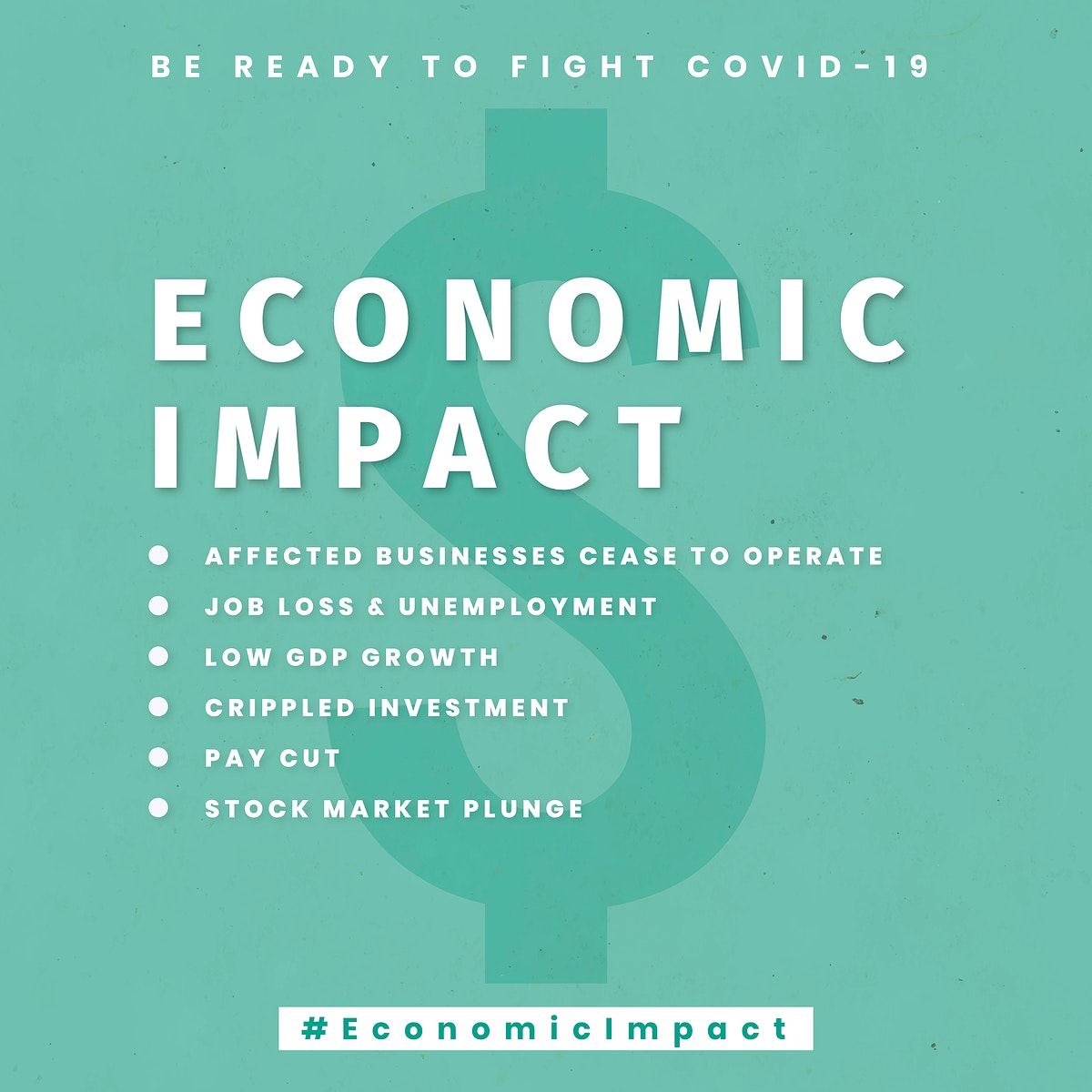 Economic impact due to Covid-19 template vector