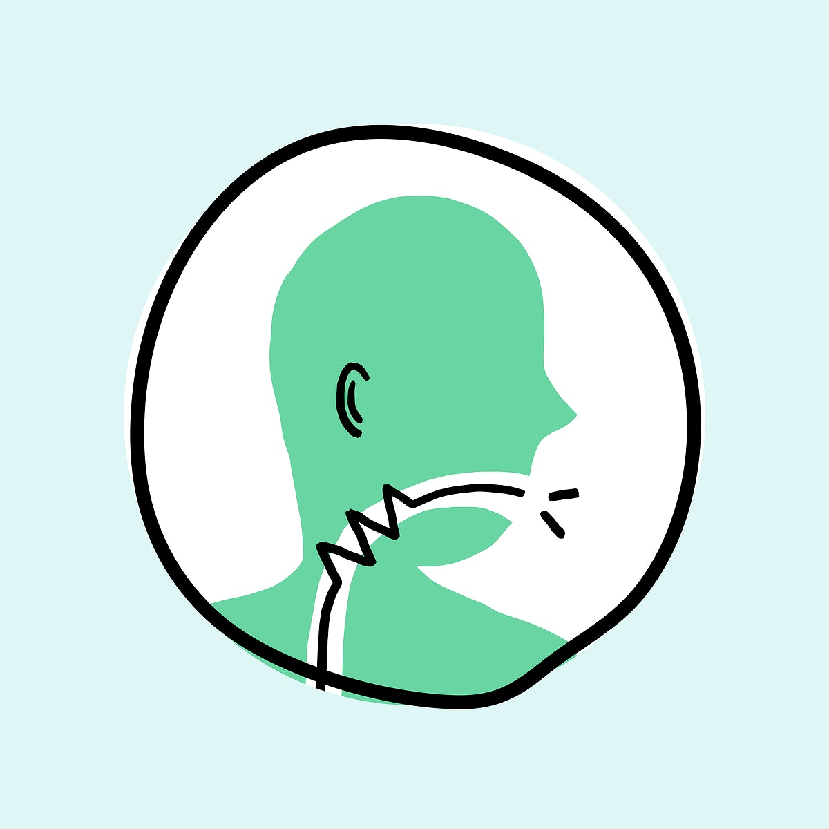 Sore throat coronavirus symptom icon vector