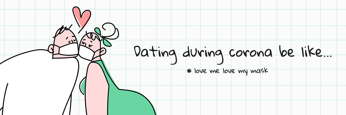 Dating during coronavirus template vector