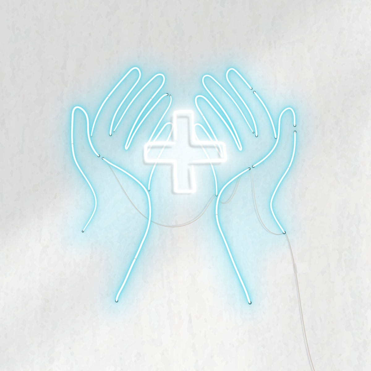 Disinfect your hands neon sign