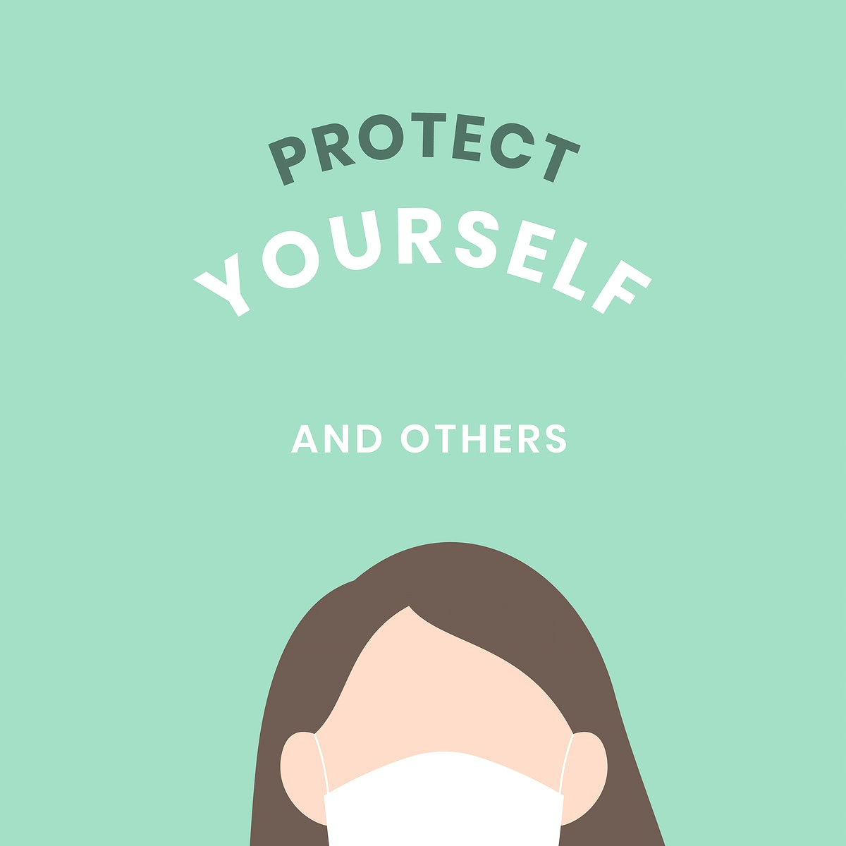 Protect yourself covid-9 awareness vector