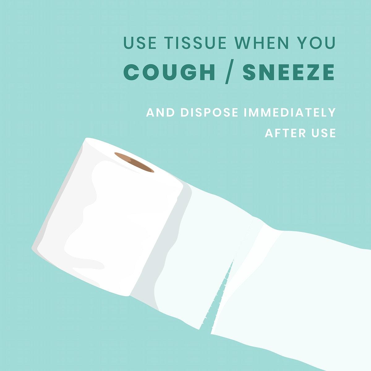 Use tissue covid-9 awareness vector