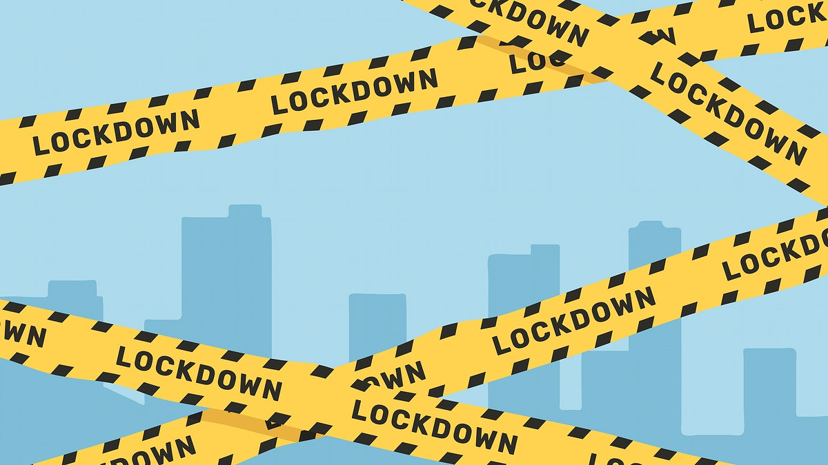 Yellow Lockdown Caution Tape Transparent Png