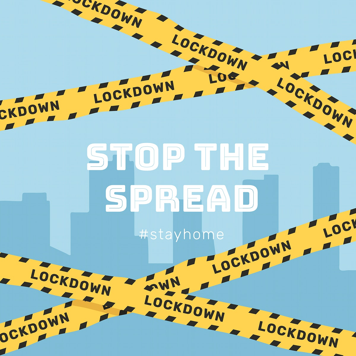 Stop the spread of Coronavirus template vector