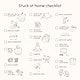 Stuck at home checklist vector