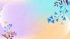 Ginkgo leaf vector frame design on colorful background