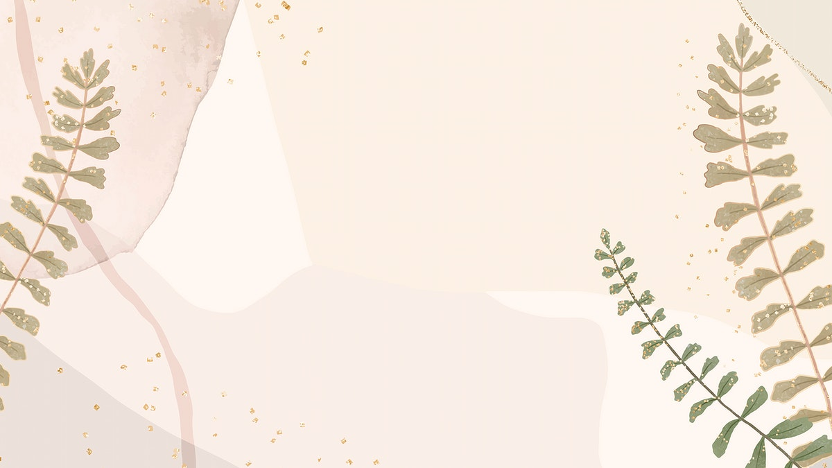 Leaf glitter vector frame on neutral background