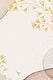 Glitter ginkgo leaves vector frame on beige background