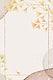 Golden rectangle ginkgo leaf frame vector on neutral watercolor