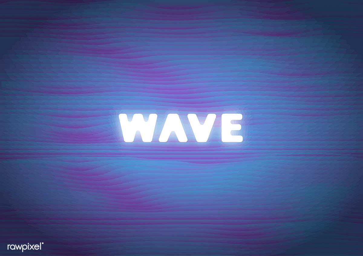 Download Premium Vector Of Wave Word On Blue Wavy Pattern Background 534580