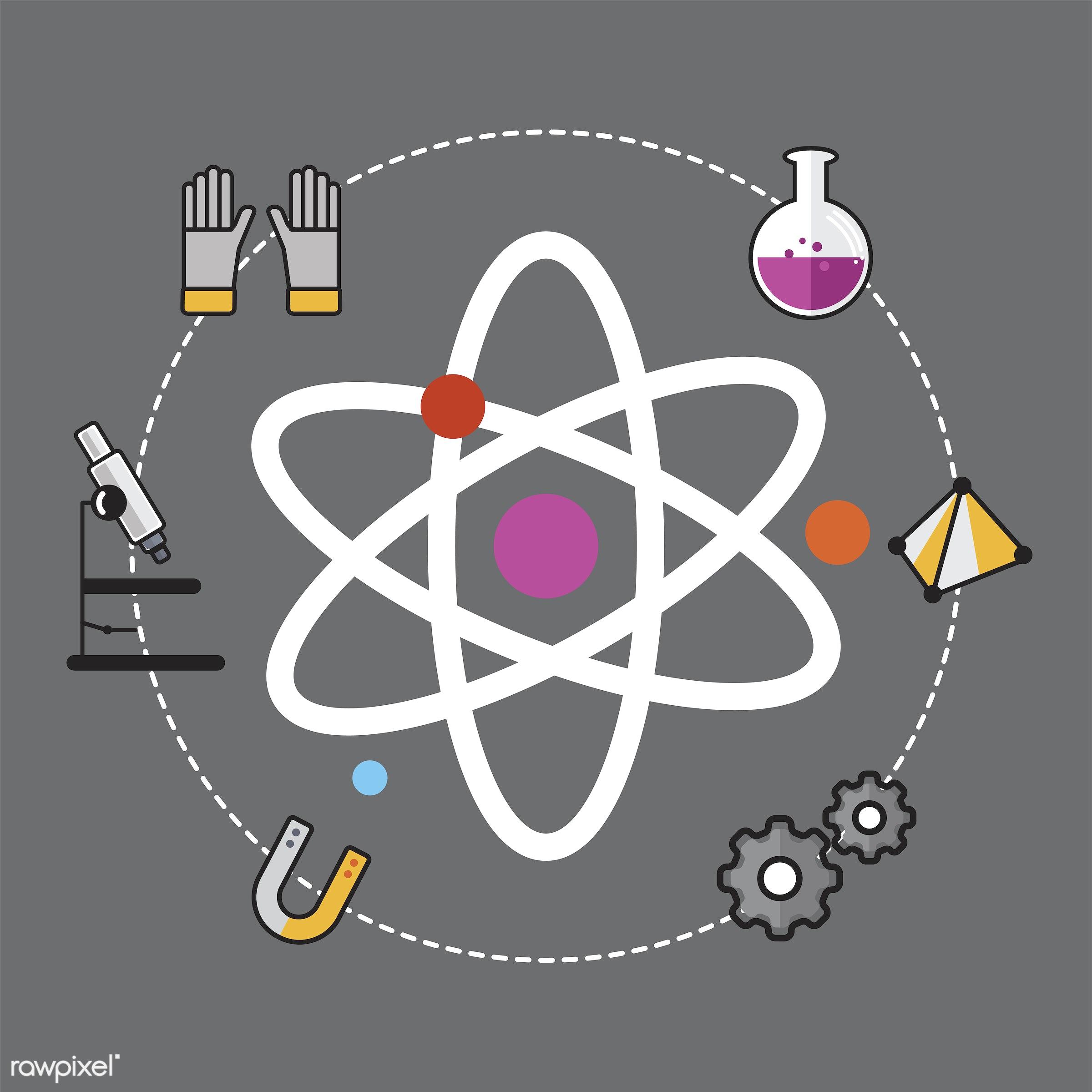 Illustration of  - biology, chemistry, class, design, education, equipments, graphic, icon, illustration, innovation,...