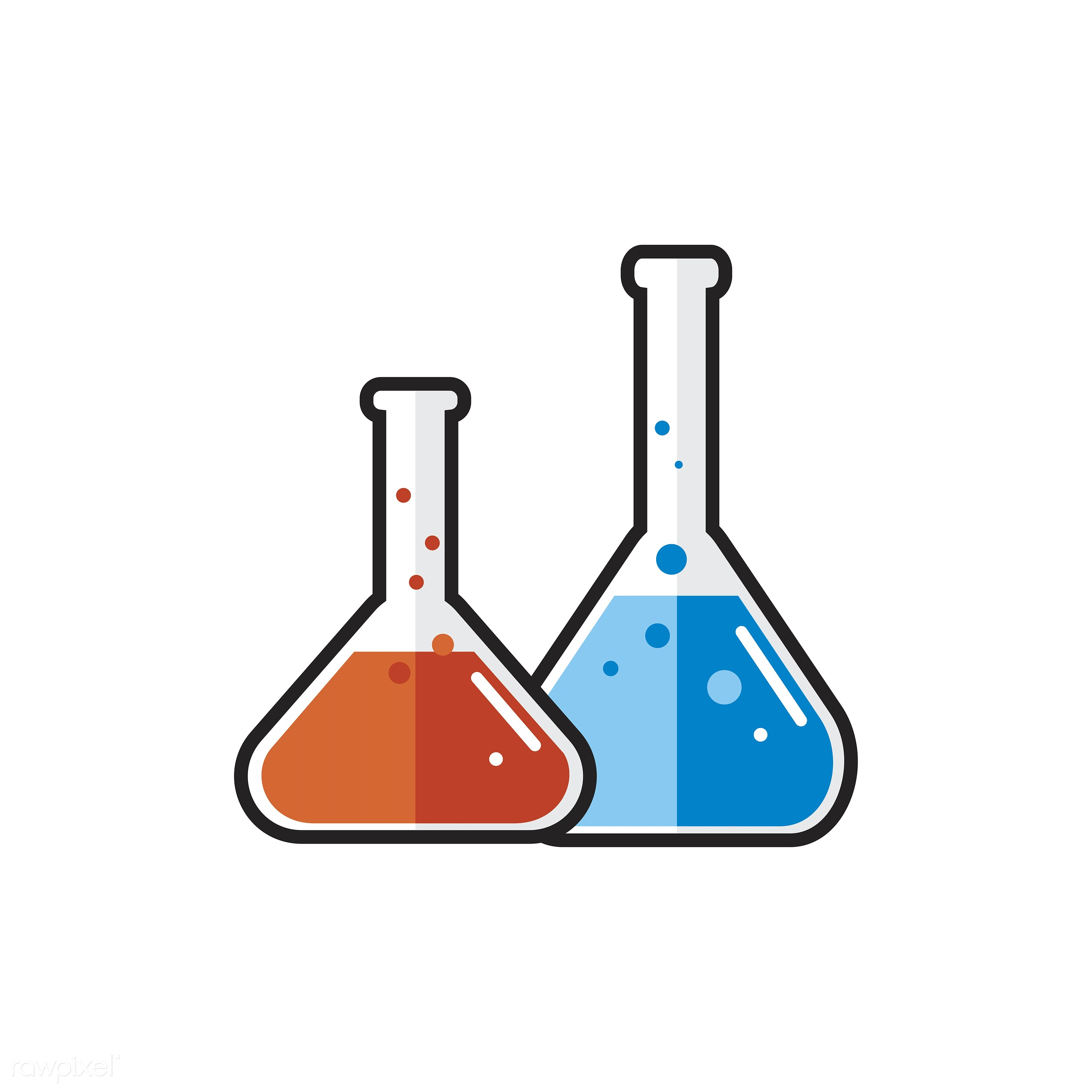 Illustration of laboratory instrument - biology, chemical, chemistry, class, design, education, equipment, experiments,...