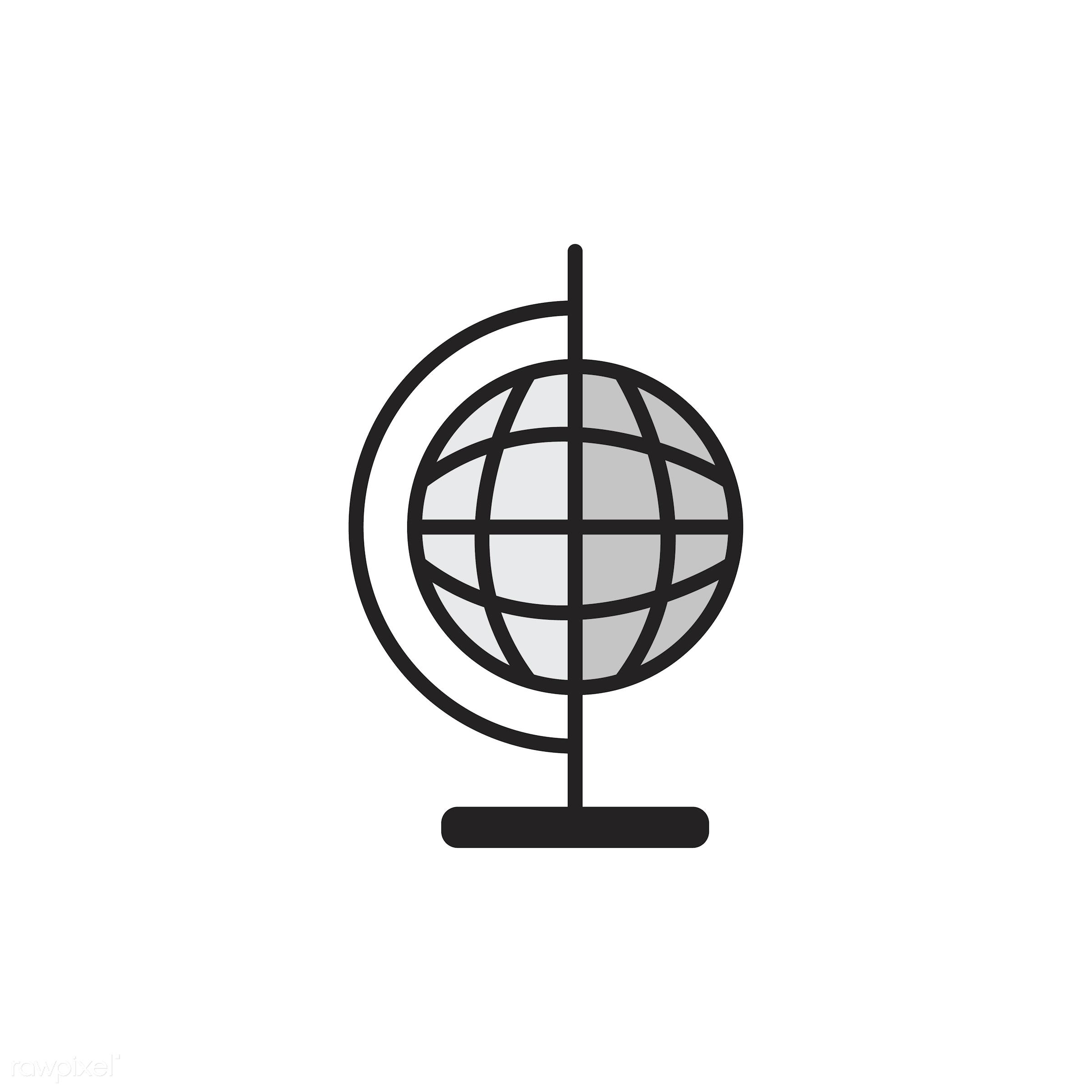 Illustration of globe ball - biology, chemistry, class, design, education, equipments, graphic, icon, illustration,...