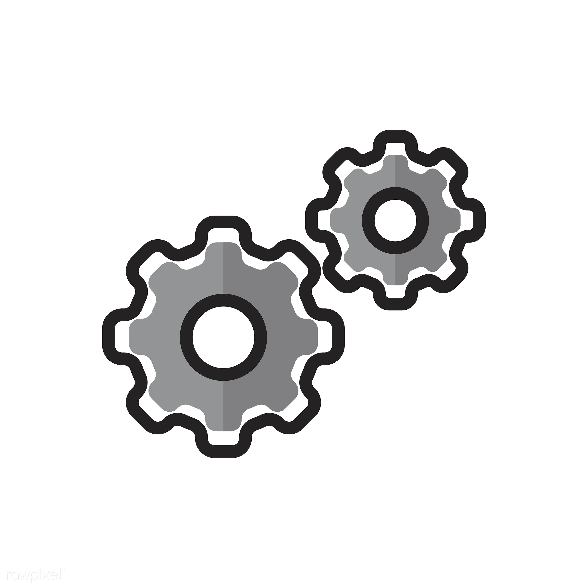 Illustration of config gears - biology, chemistry, class, collaboration, config, cooperation, design, education, equipment,...