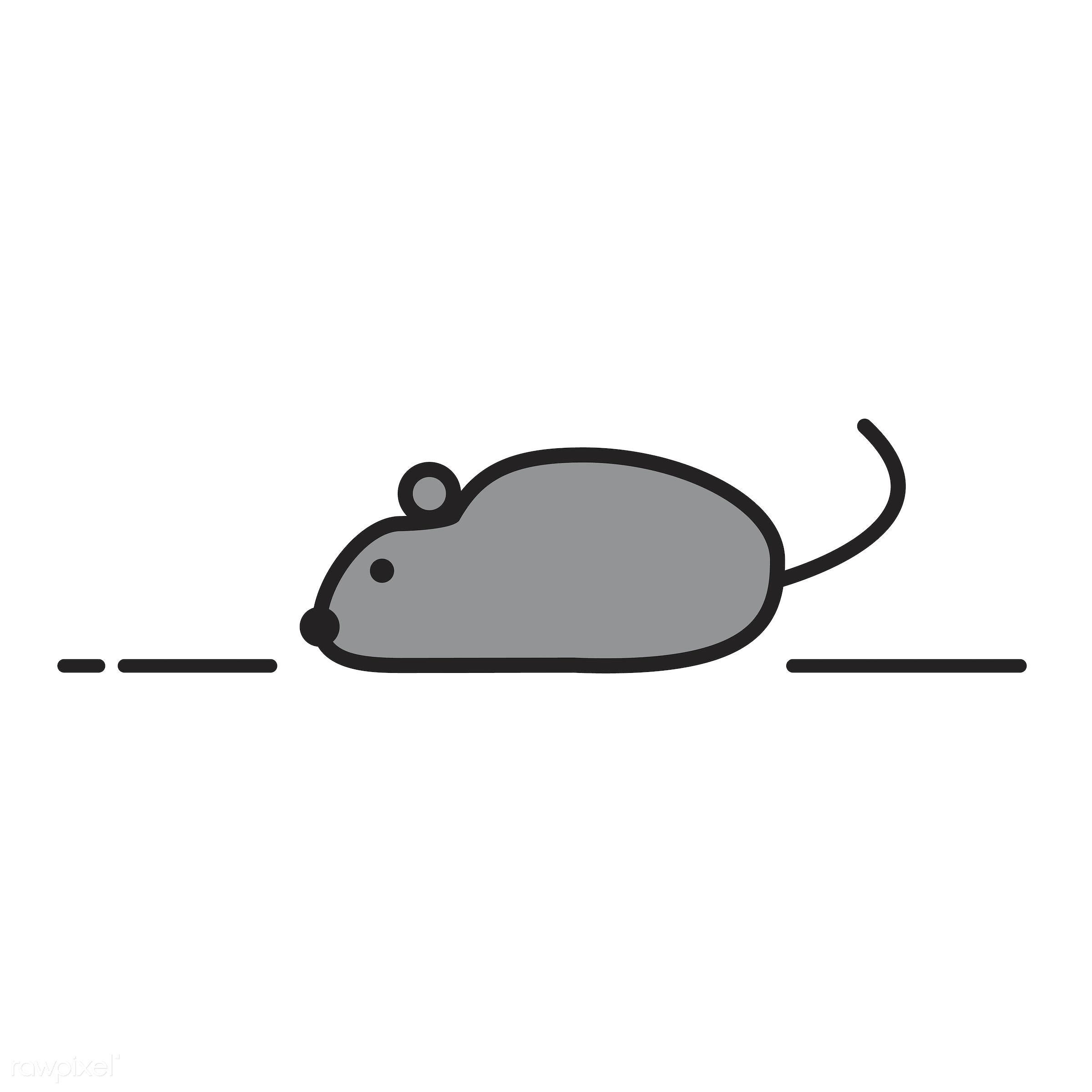 Illustration of laboratory rat - biology, chemistry, class, design, education, equipment, exam, examination, experiments,...