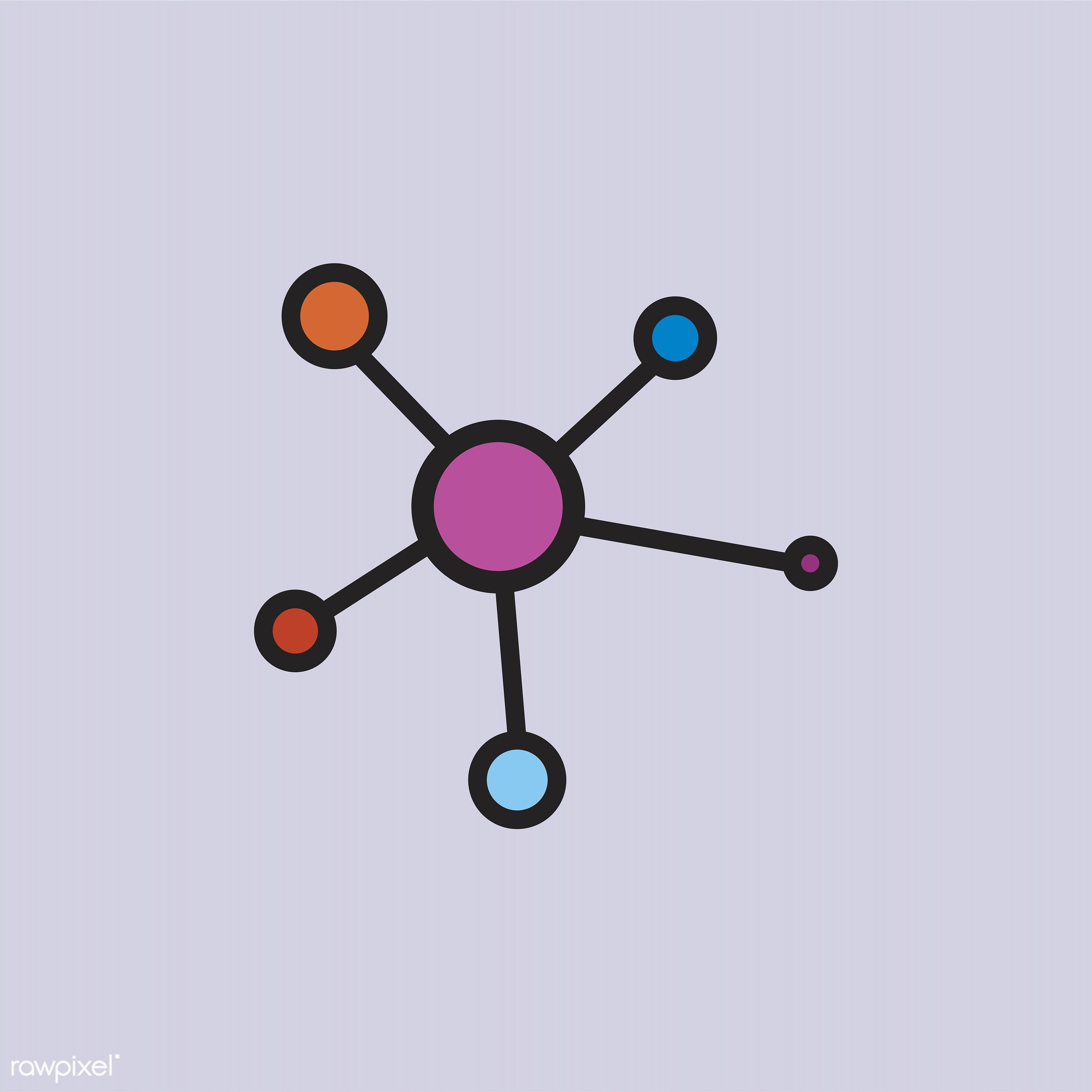 Illustration of chemical structure - biology, chemical, chemistry, class, compound, design, education, equipment,...