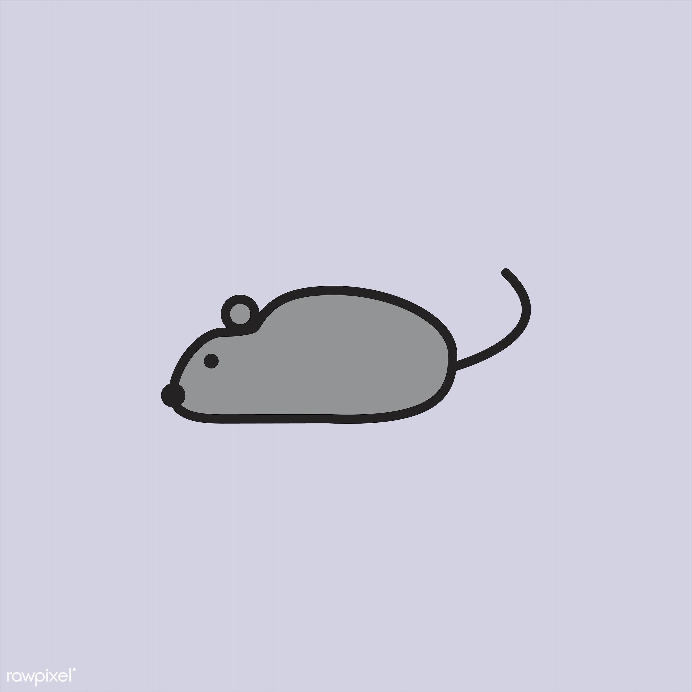 Illustration of laboratory rat - biology, chemistry, class, design, education, equipments, graphic, icon, illustration,...