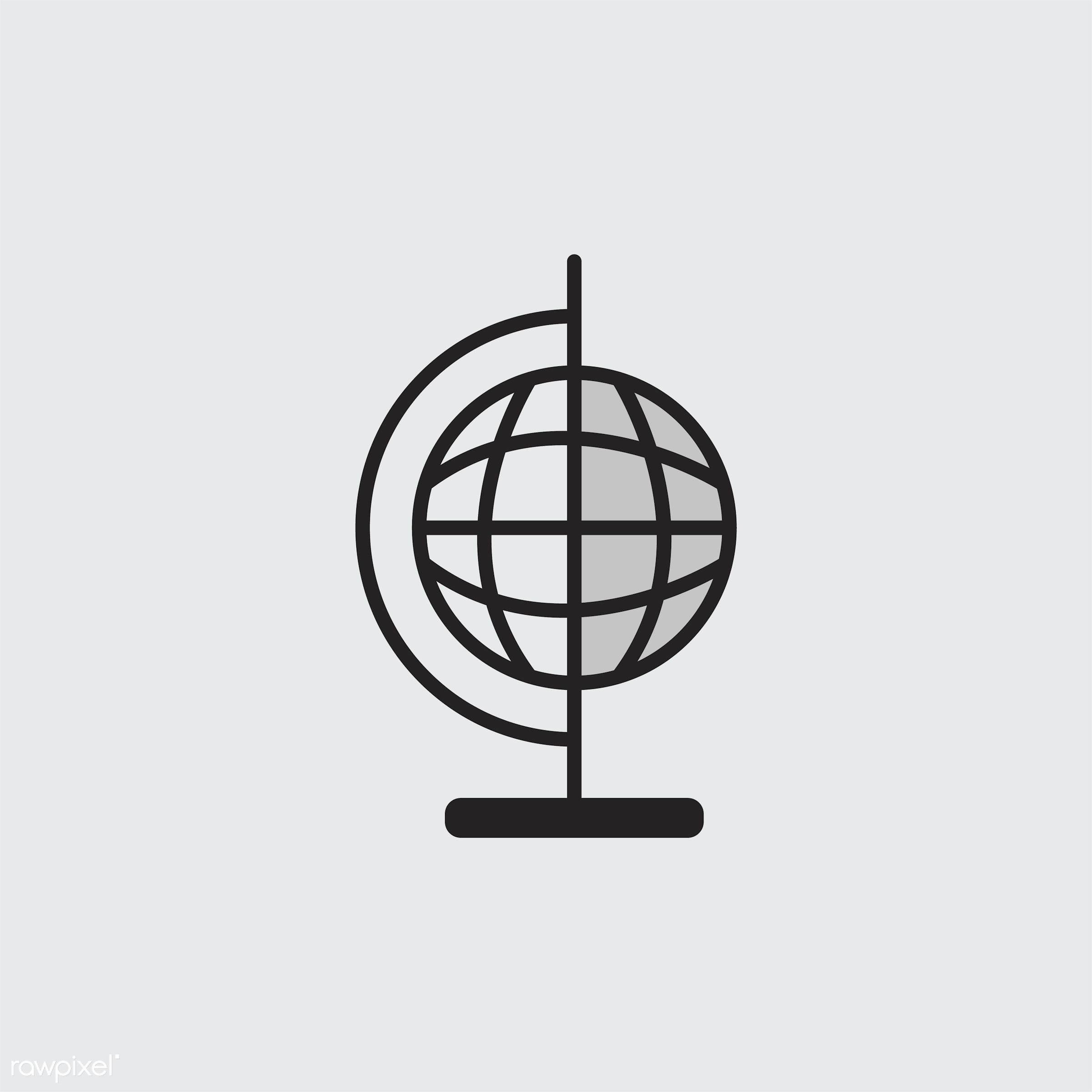 Illustration of globe ball - ball, biology, chemistry, class, design, education, equipment, experiments, global, globe,...