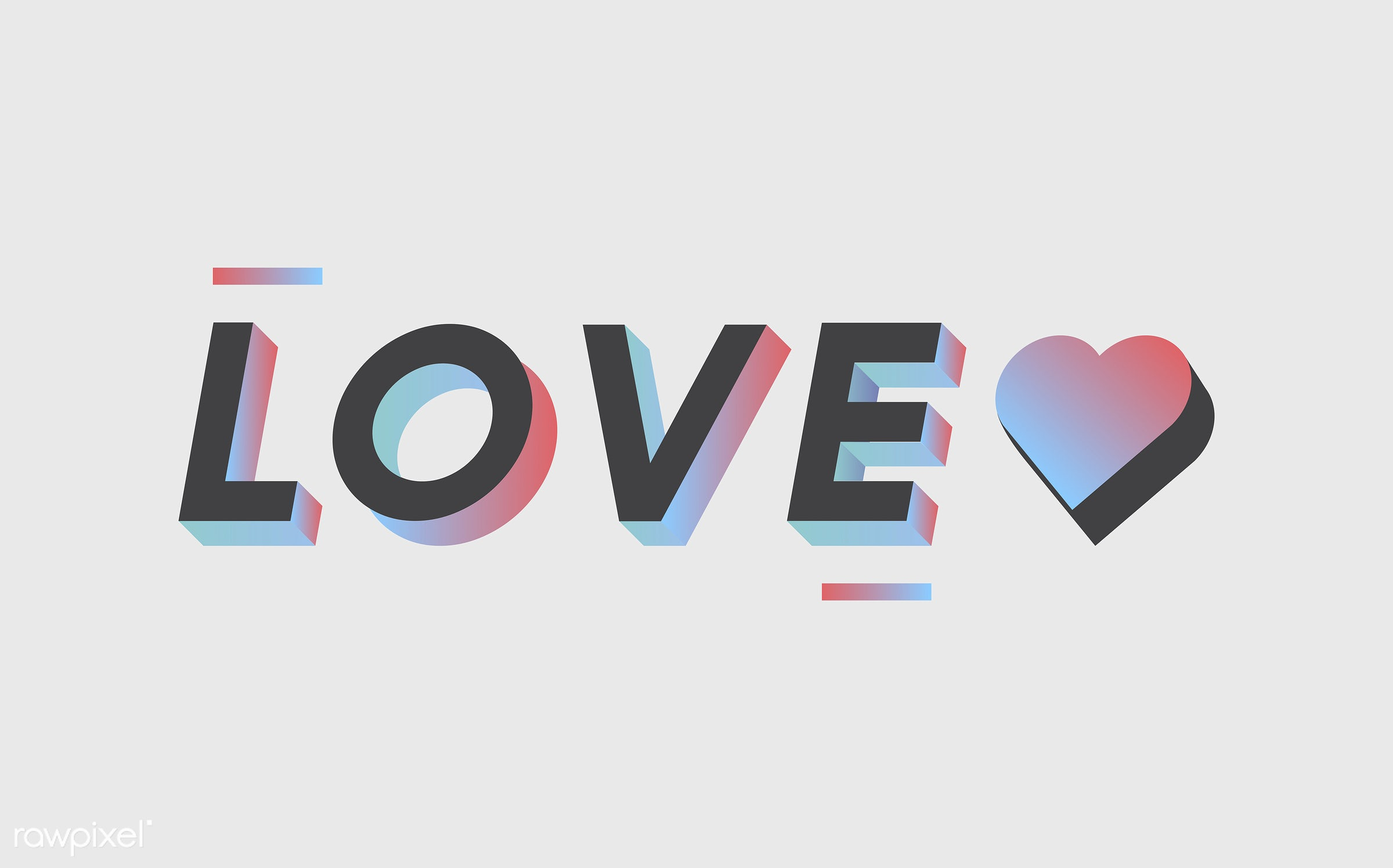 The word love vector - love, colorful, 3d, black, graphic, illustration, in love, neon, romance, three dimensional,...
