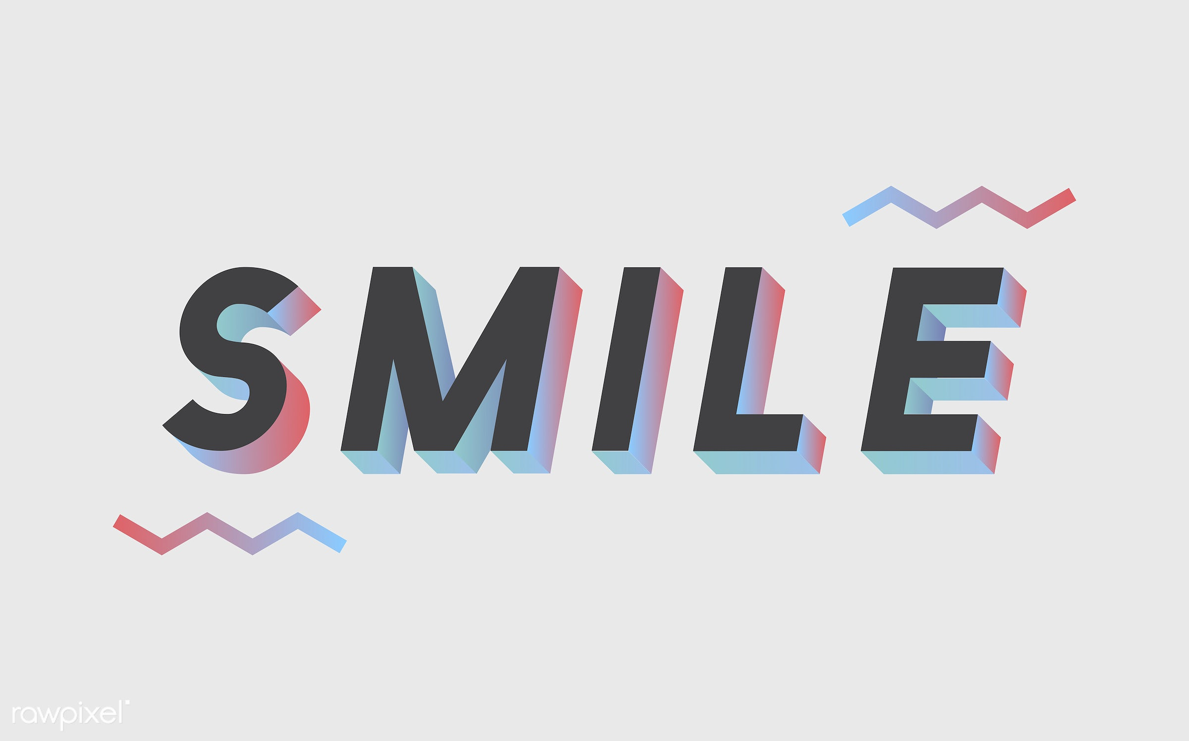 3d, be happy, black, colorful, graphic, illustration, laugh, neon, smile, three dimensional, vector, white, word