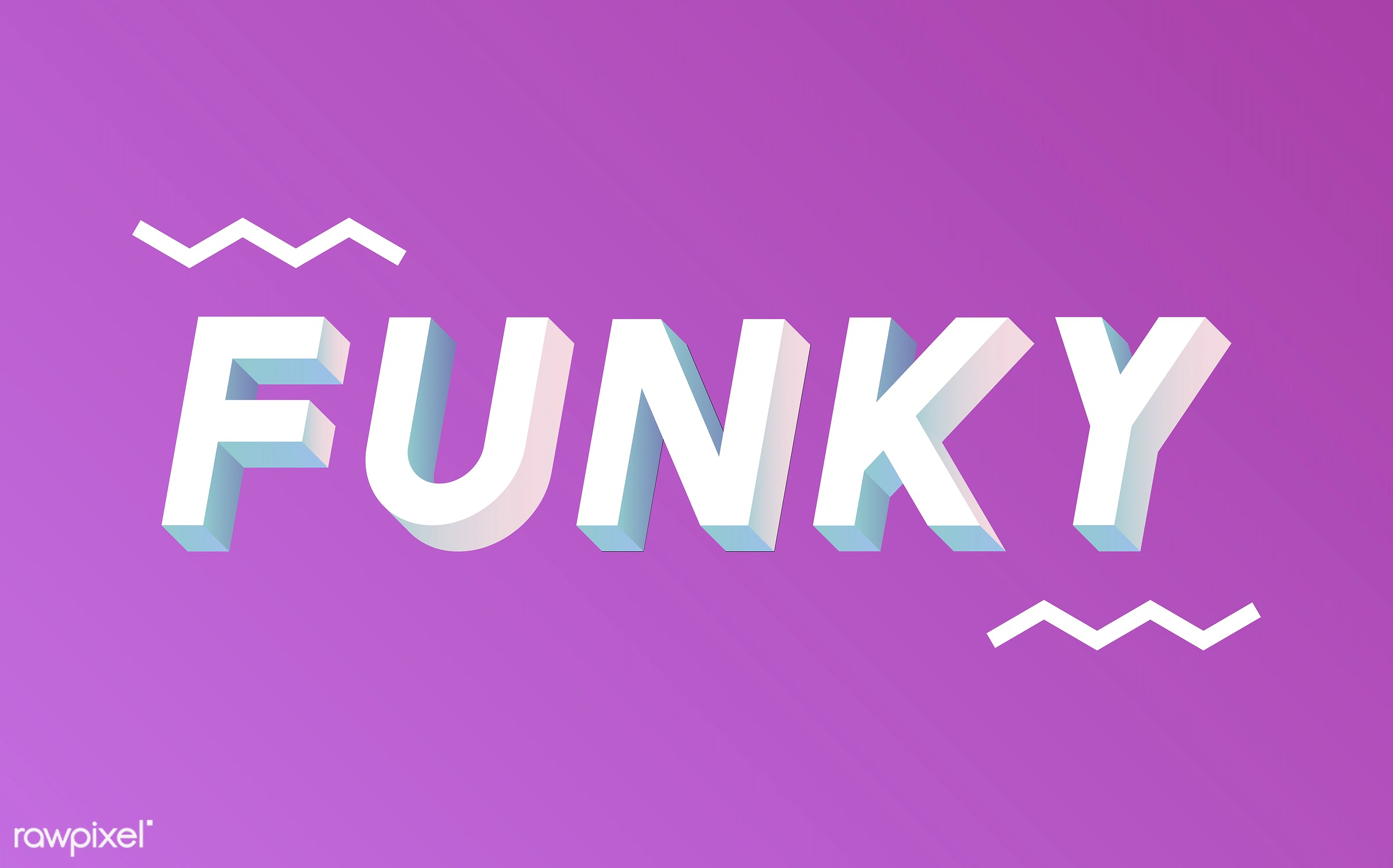 neon, colorful, 3d, three dimensional, vector, illustration, graphic, word, pink, white, funky, hip, cool