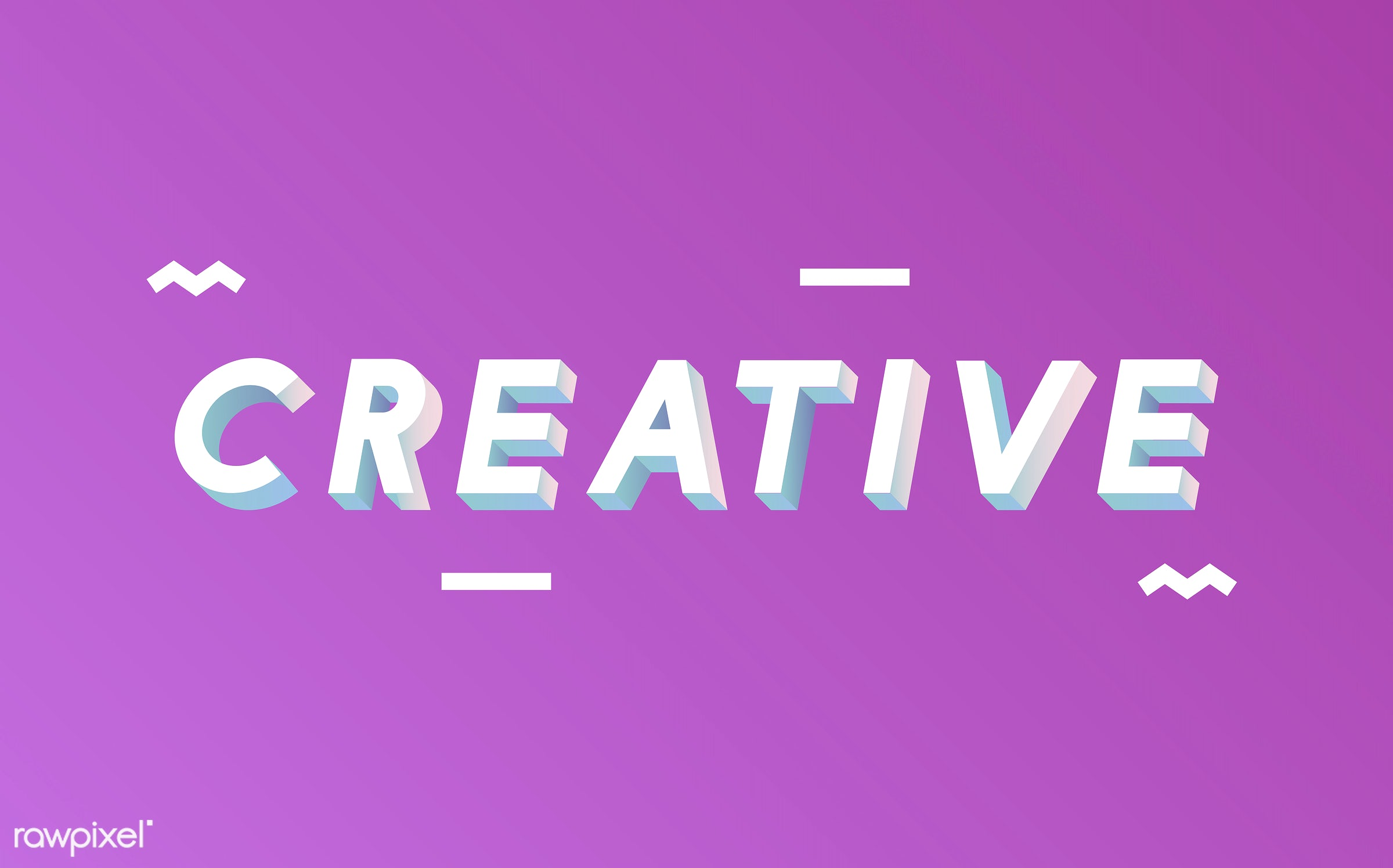 neon, colorful, 3d, three dimensional, vector, illustration, graphic, word, pink, white, creative, creativity