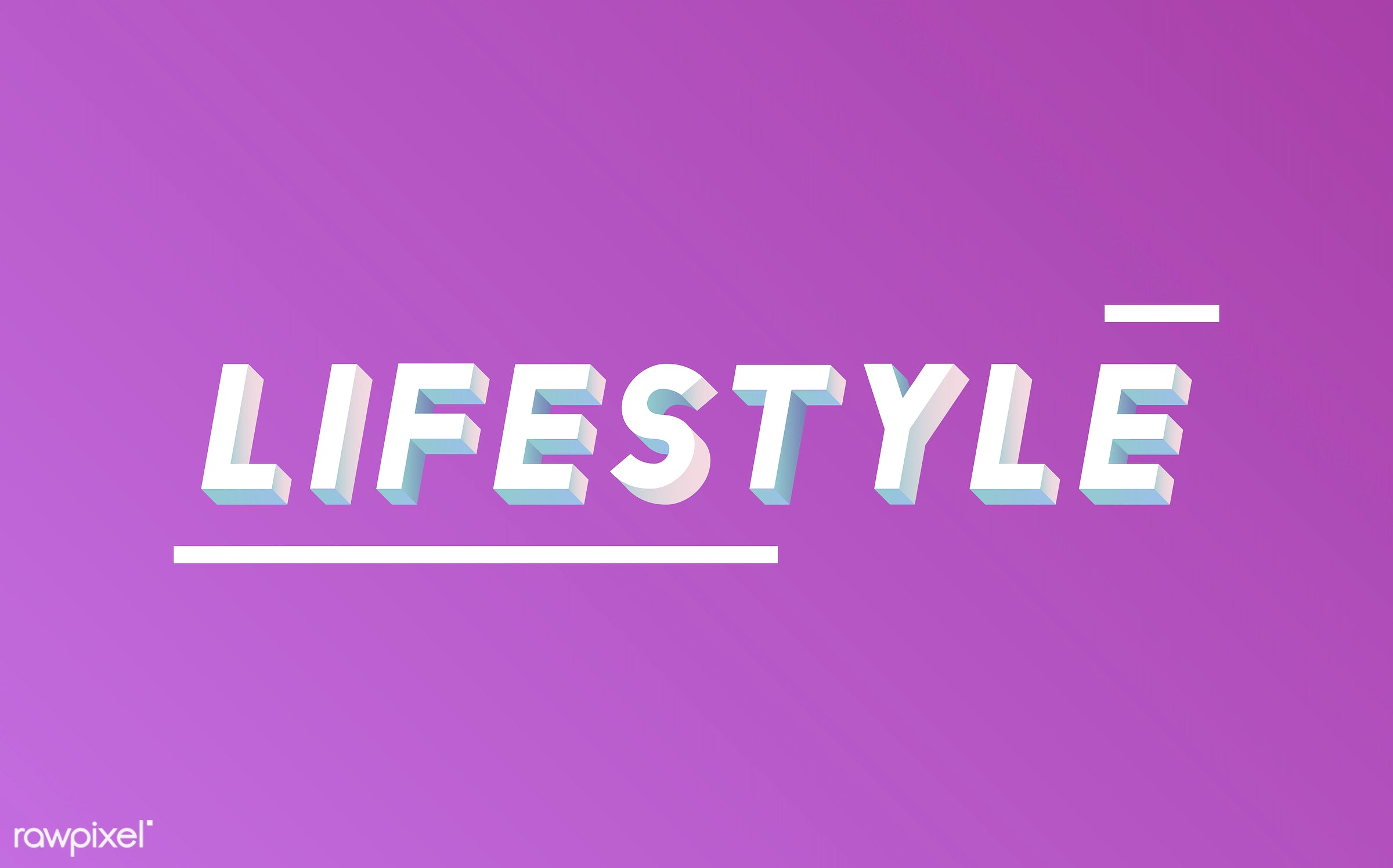 neon, colorful, 3d, three dimensional, vector, illustration, graphic, word, pink, white, lifestyle, life, style