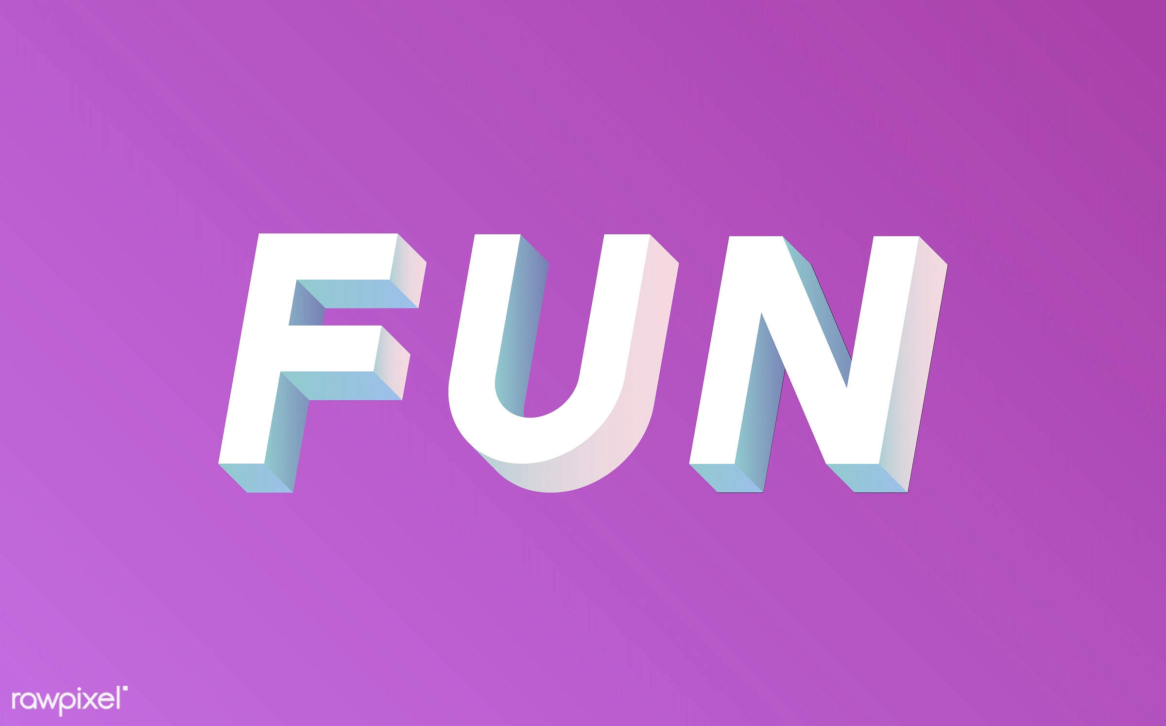 neon, colorful, 3d, three dimensional, vector, illustration, graphic, word, pink, white, fun, funny