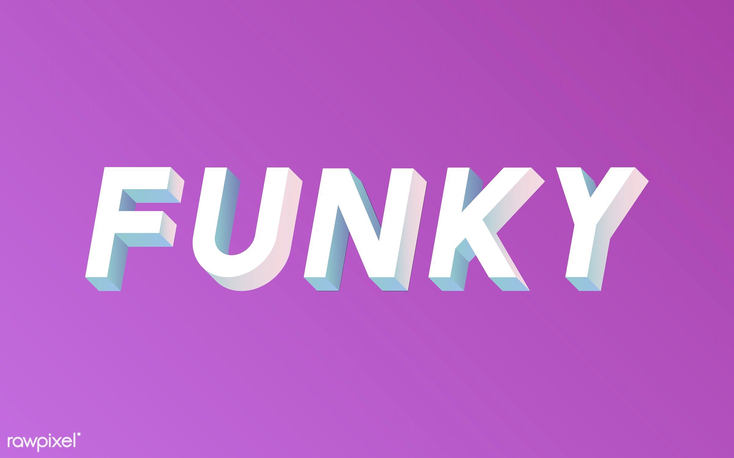 neon, colorful, 3d, three dimensional, vector, illustration, graphic, word, pink, white, cool, funky, hip