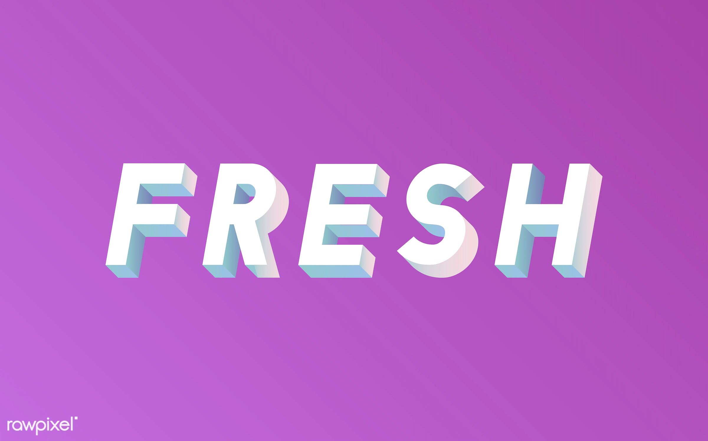 neon, colorful, 3d, three dimensional, vector, illustration, graphic, word, pink, white, fresh, new
