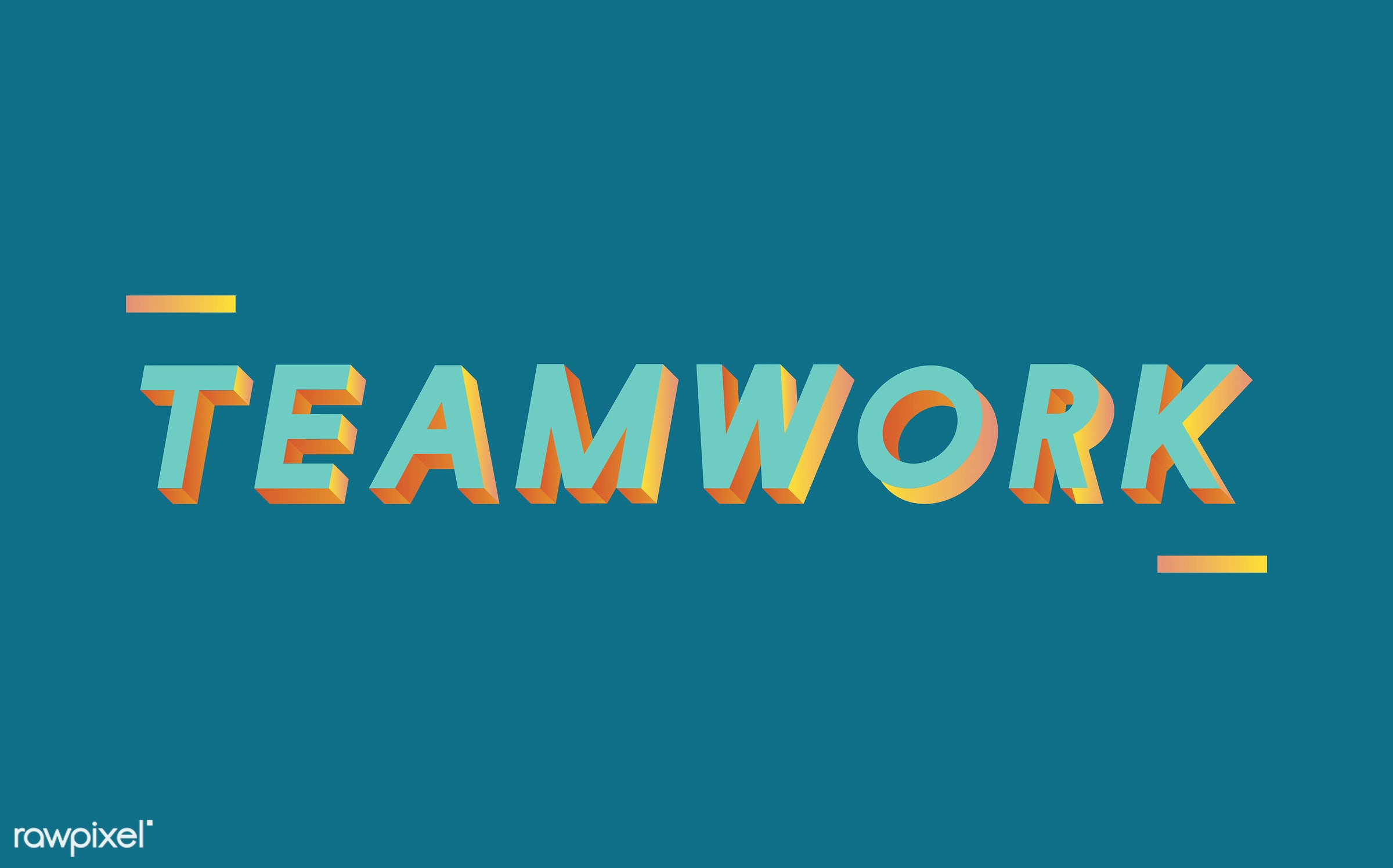 colorful, team, 3d, graphic, green, illustration, neon, teamwork, three dimensional, vector, word