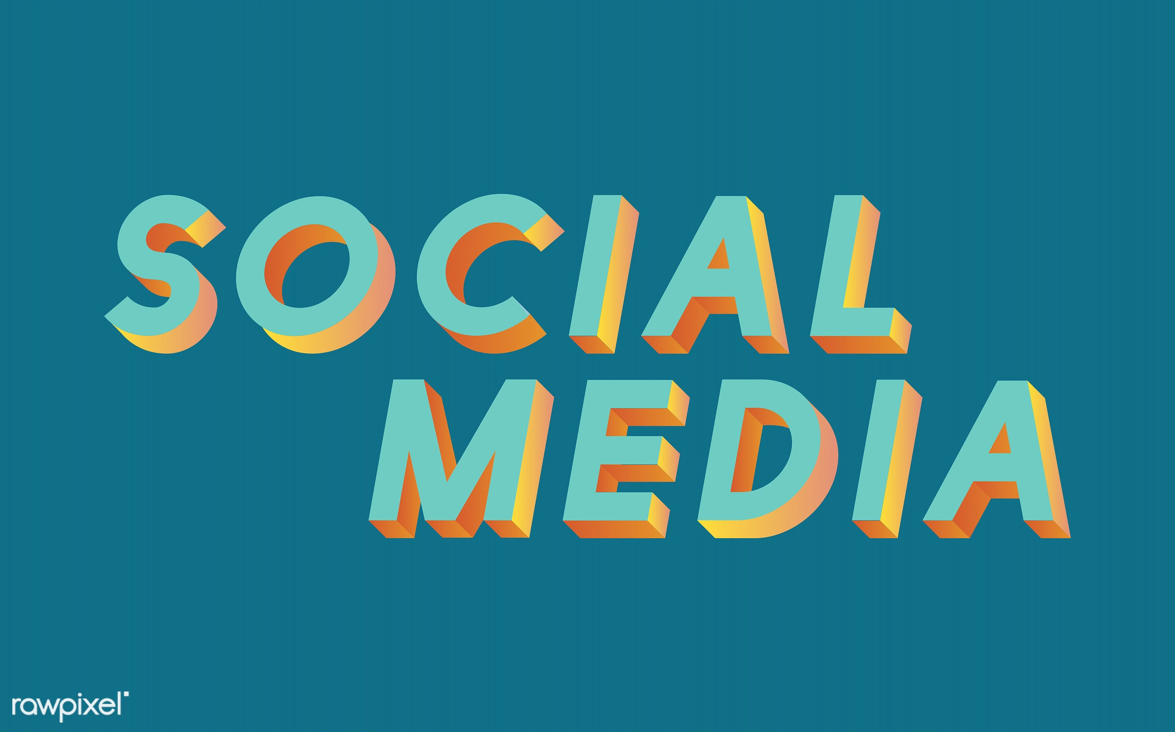 neon, colorful, 3d, three dimensional, vector, illustration, graphic, word, green, social networking, digital