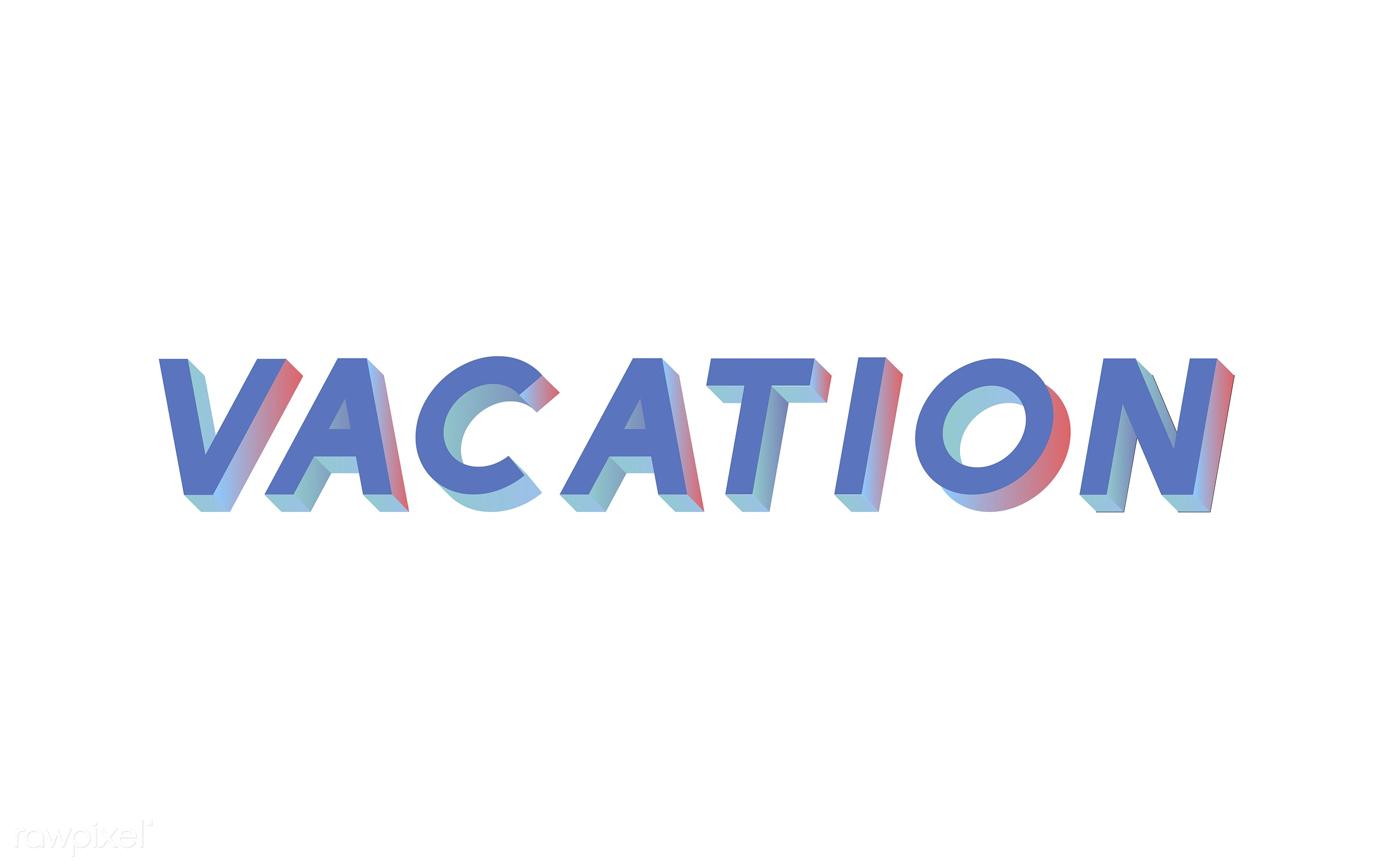 neon, colorful, 3d, three dimensional, vector, illustration, graphic, word, white, blue, holiday, vacation