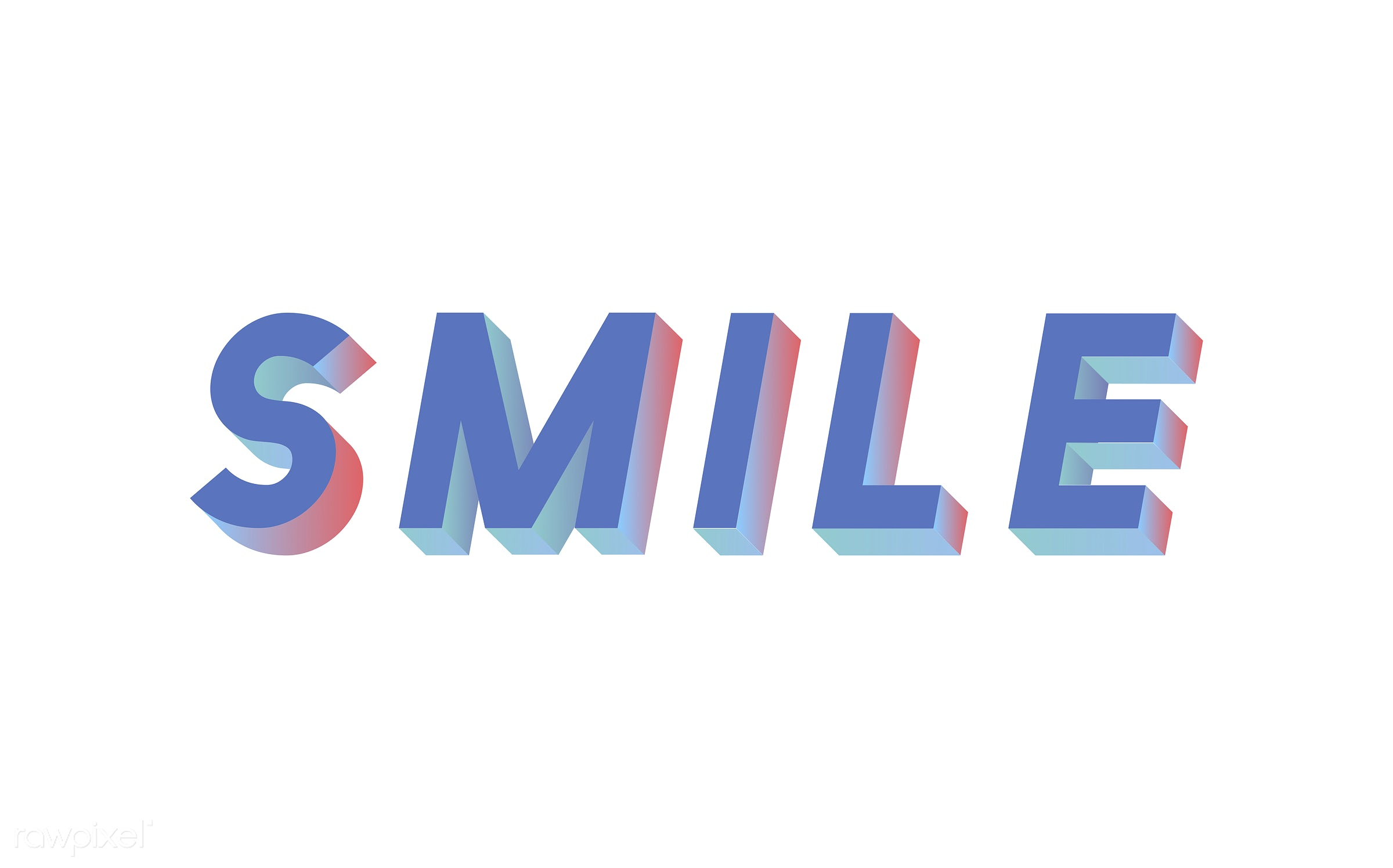 neon, colorful, 3d, three dimensional, vector, illustration, graphic, word, white, blue, be happy, laugh