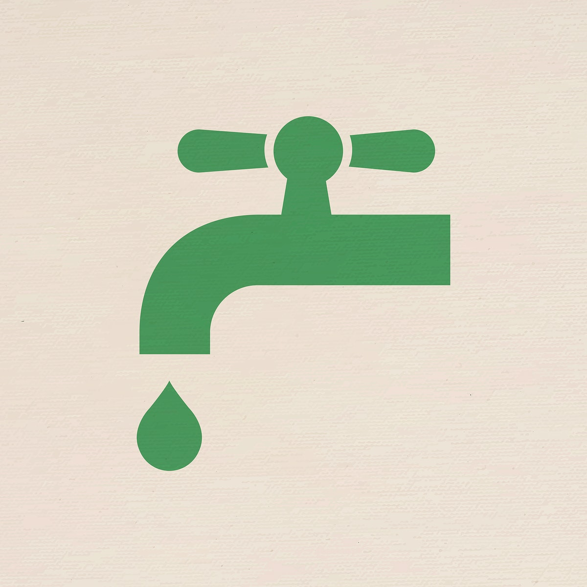 Water faucet icon psd for business in flat graphic