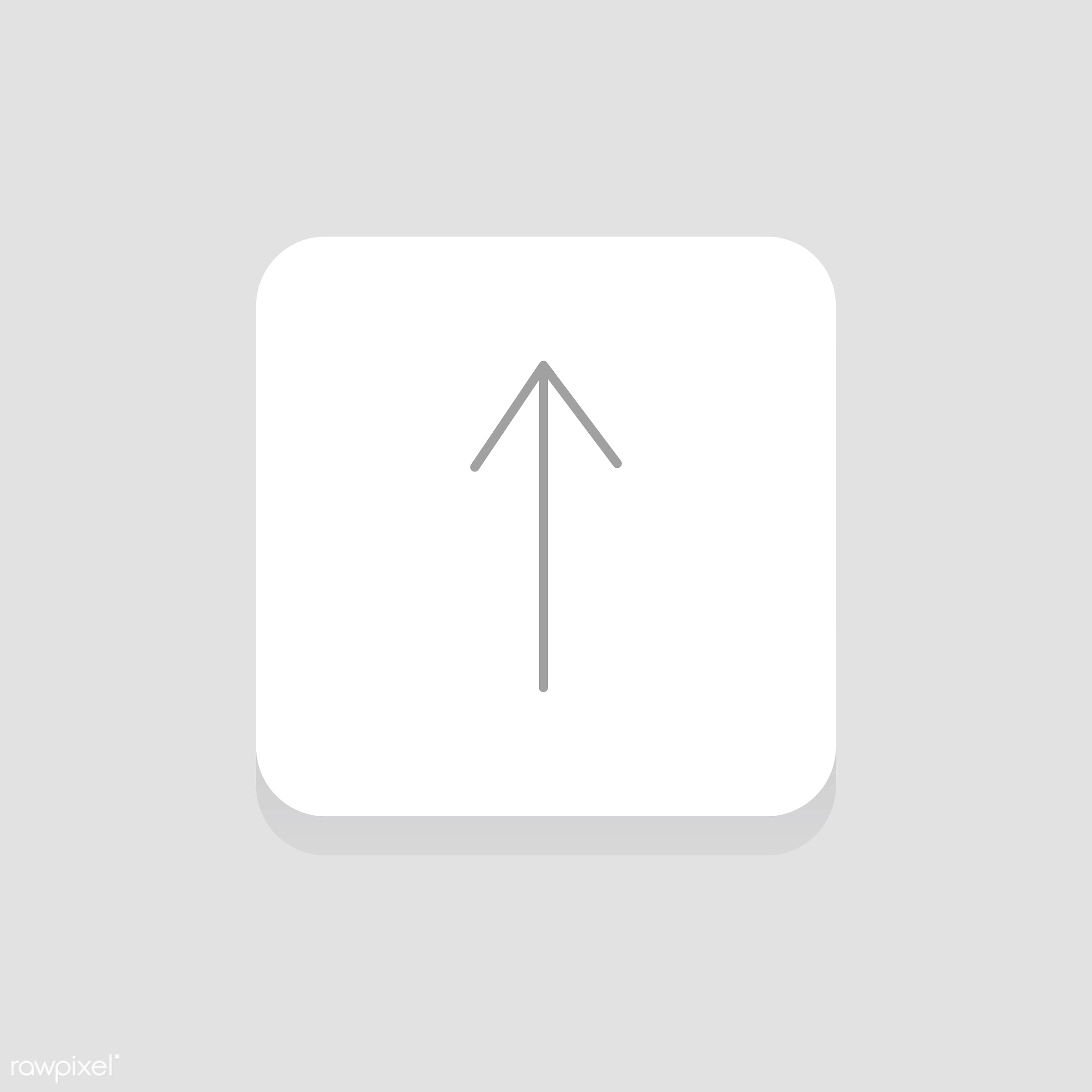 Vector of arrow icon - arrow, control, cursor, design, flat, graphic, icon, illustration, isolated, layout, style, symbol,...