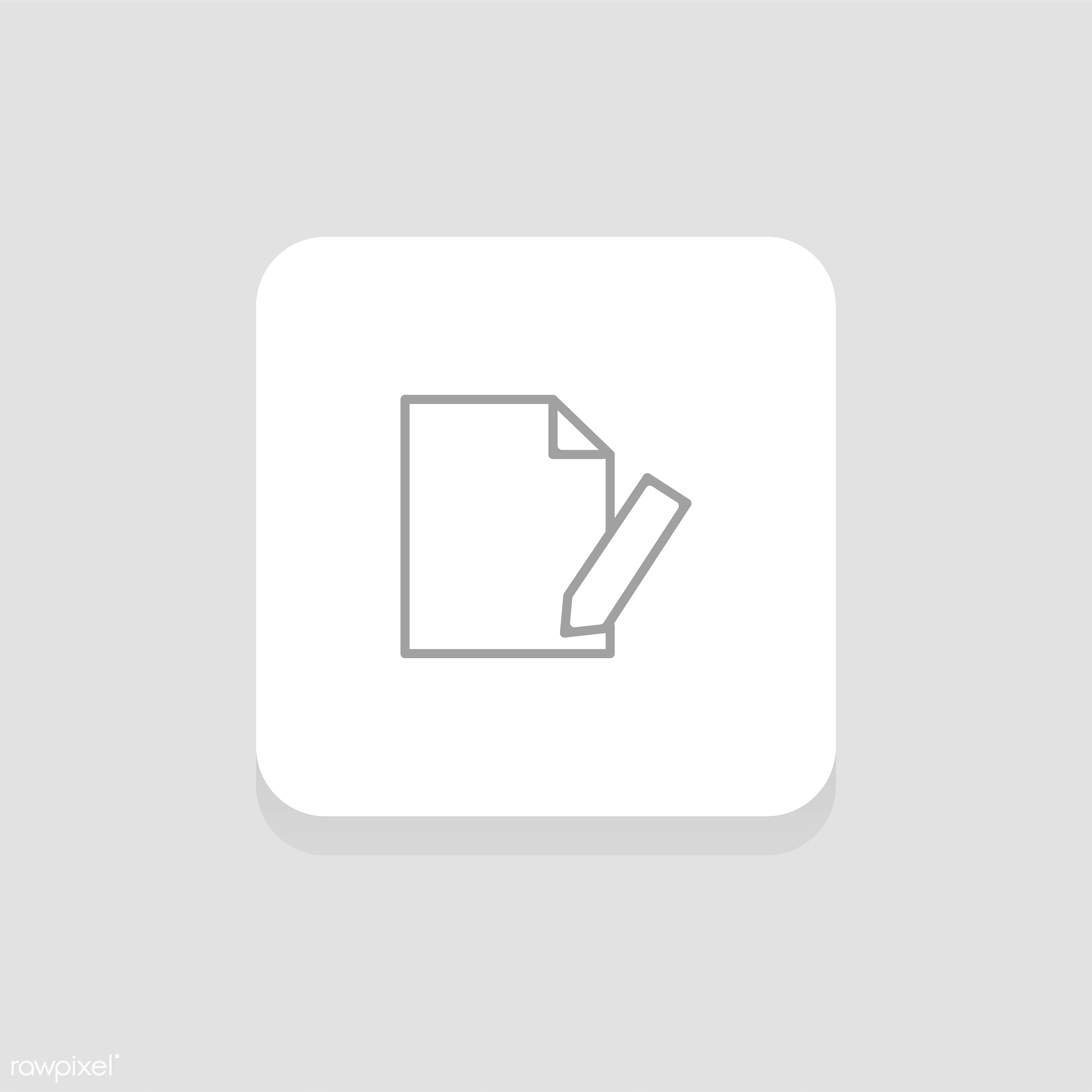 Vector set of website icons - data, design, document, flat, graphic, icon, illustration, information, isolated, layout,...