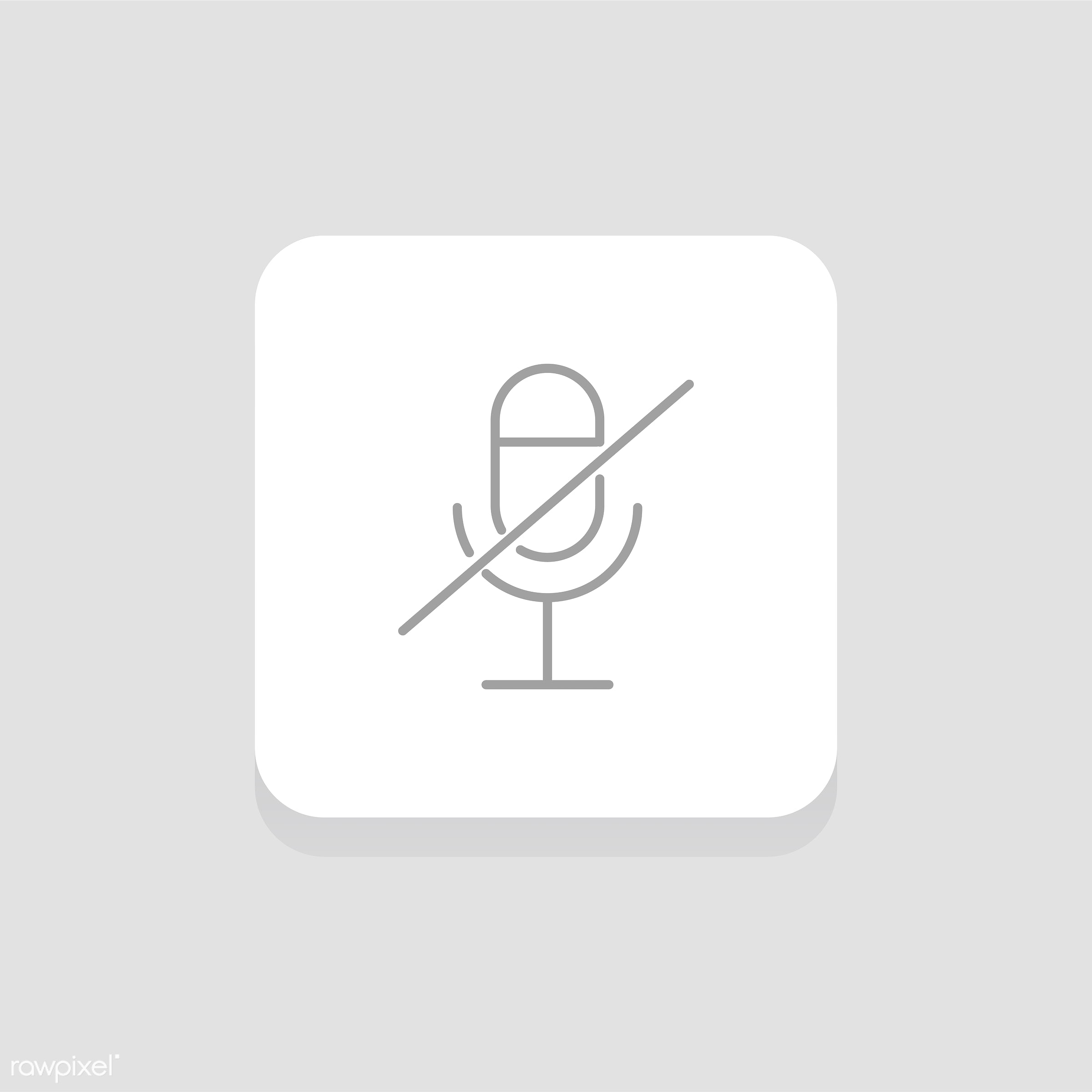 Vector of muted microphone icon - music, audio, design, entertainment, flat, graphic, icon, illustration, isolated, layout,...