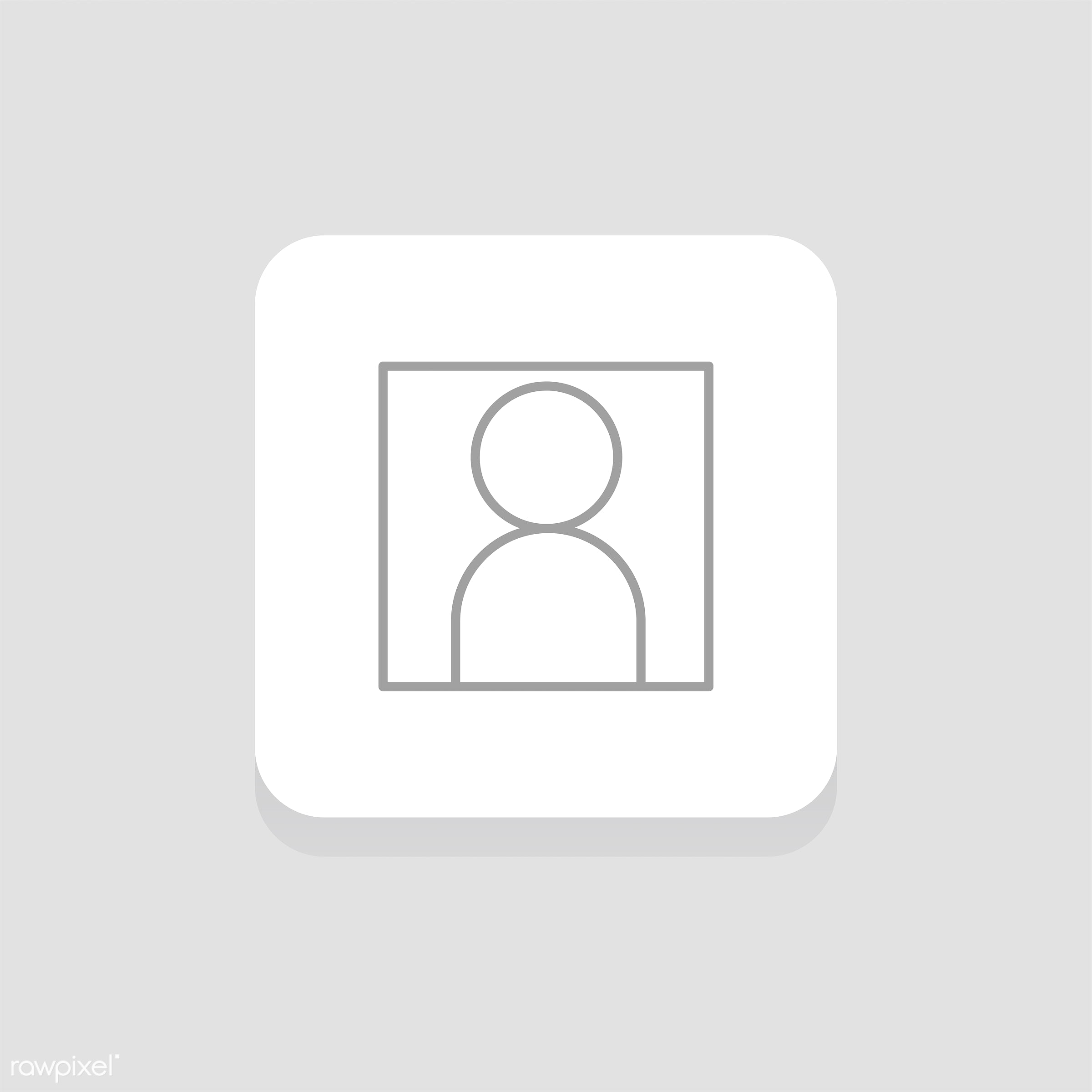 Vector of user photo icon - user, account, design, flat, graphic, icon, illustration, isolated, style, symbol, vector, photo...