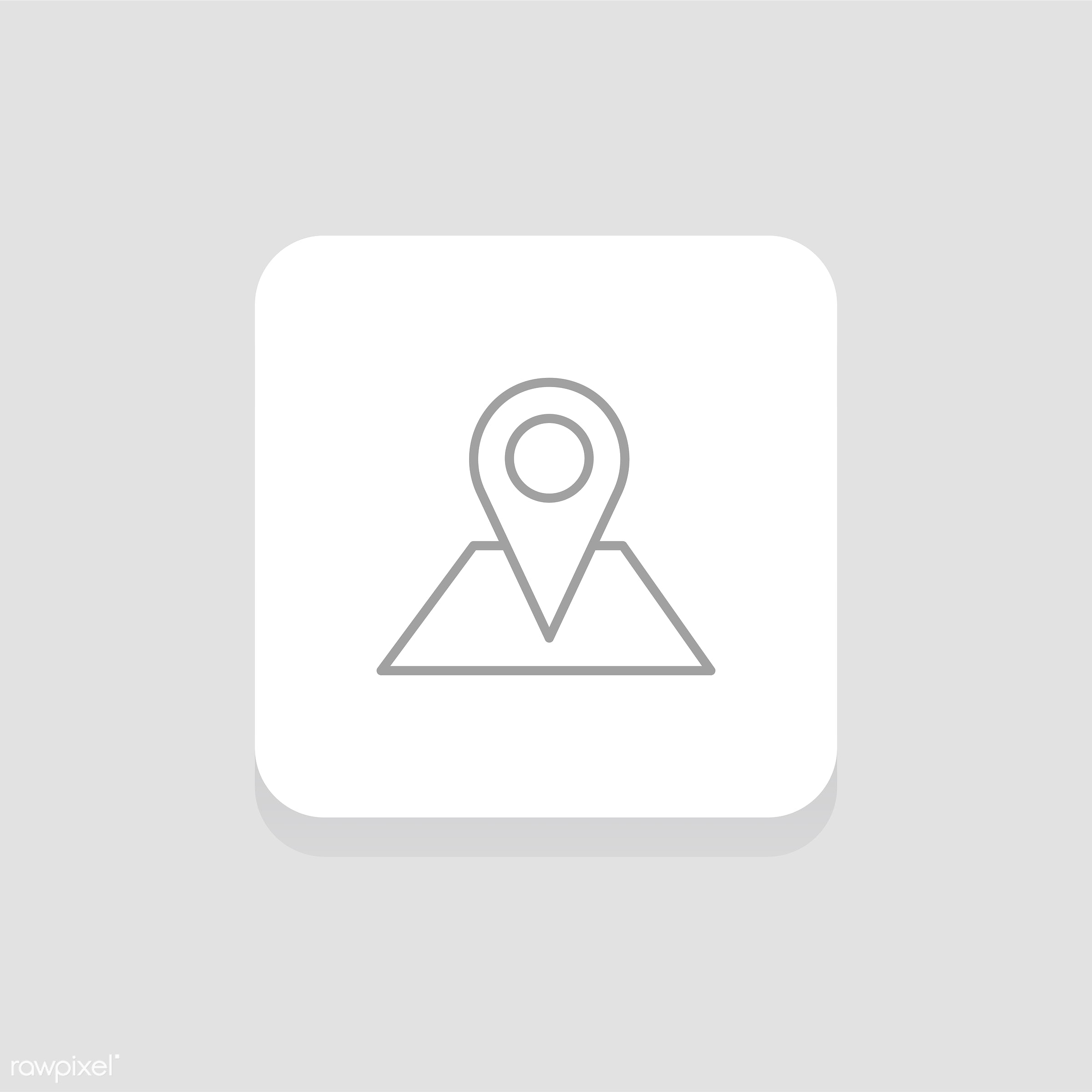 Vector of pin icon - design, flat, graphic, icon, illustration, isolated, layout, style, symbol, vector, website, click, map...