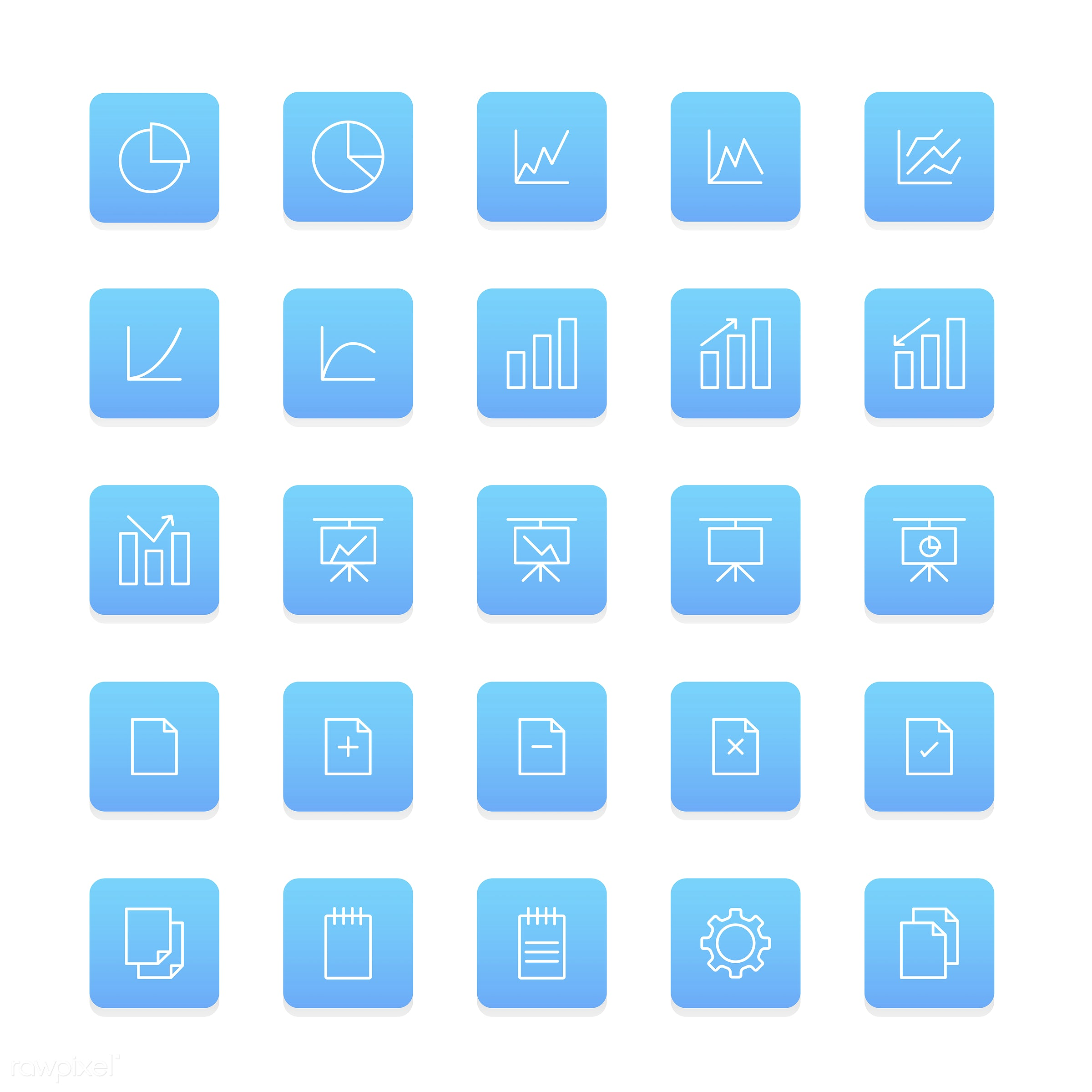 Vector set of business icons - collection, design, flat, graphic, icon, illustration, isolated, layout, platform, set, style...